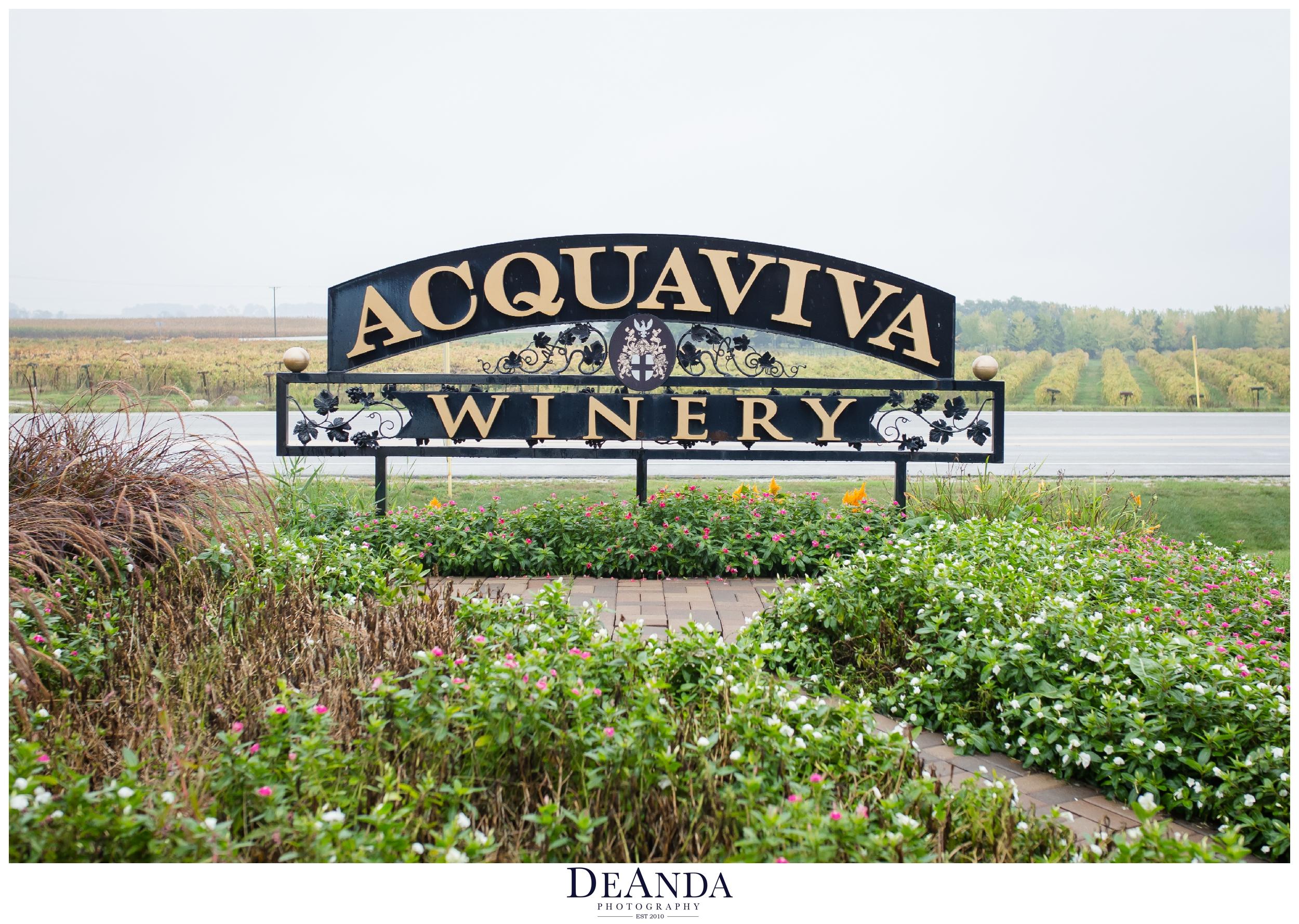 acquaviva winery maple park illinois wedding venue