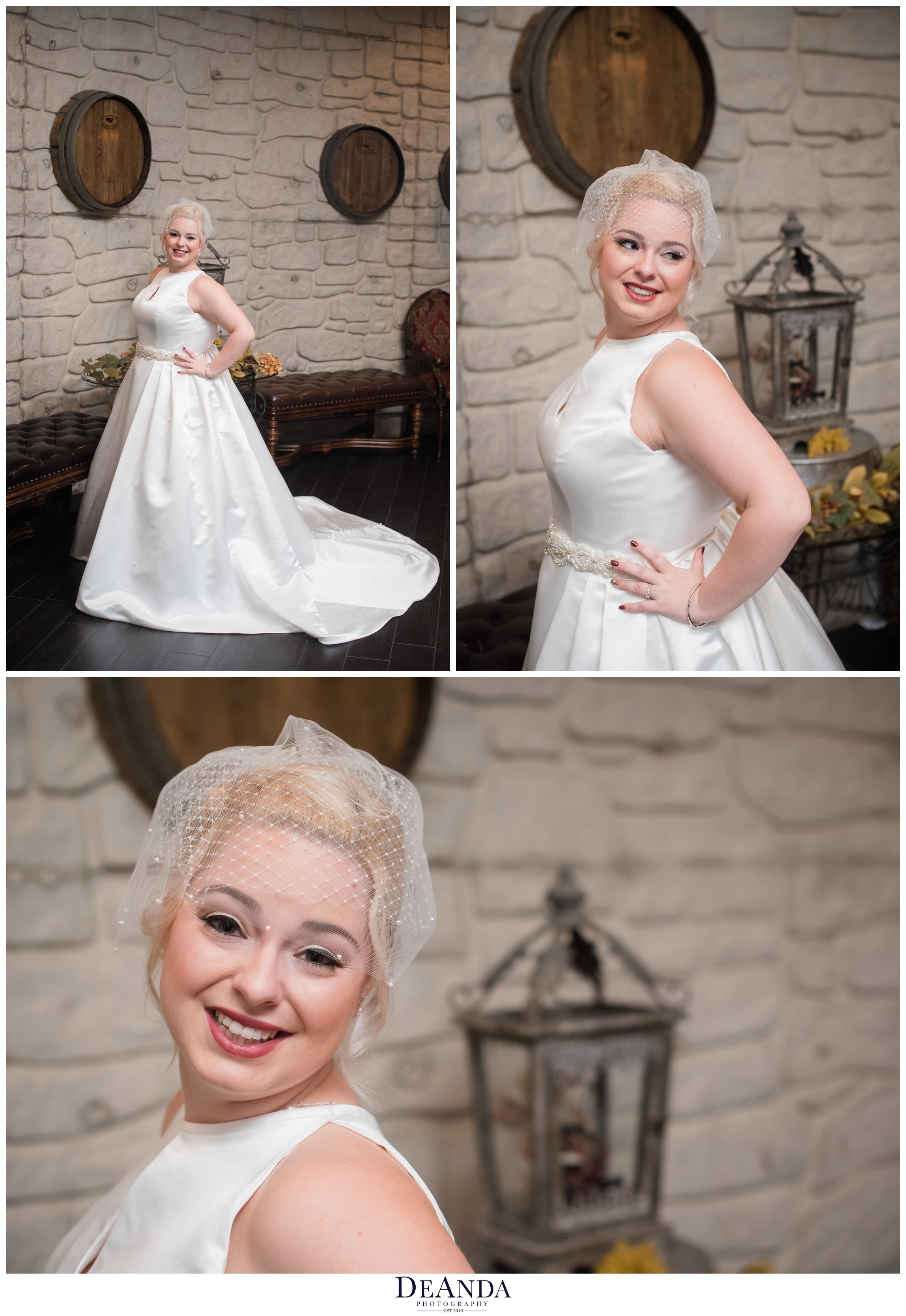 bride at acquaviva winery in maple park