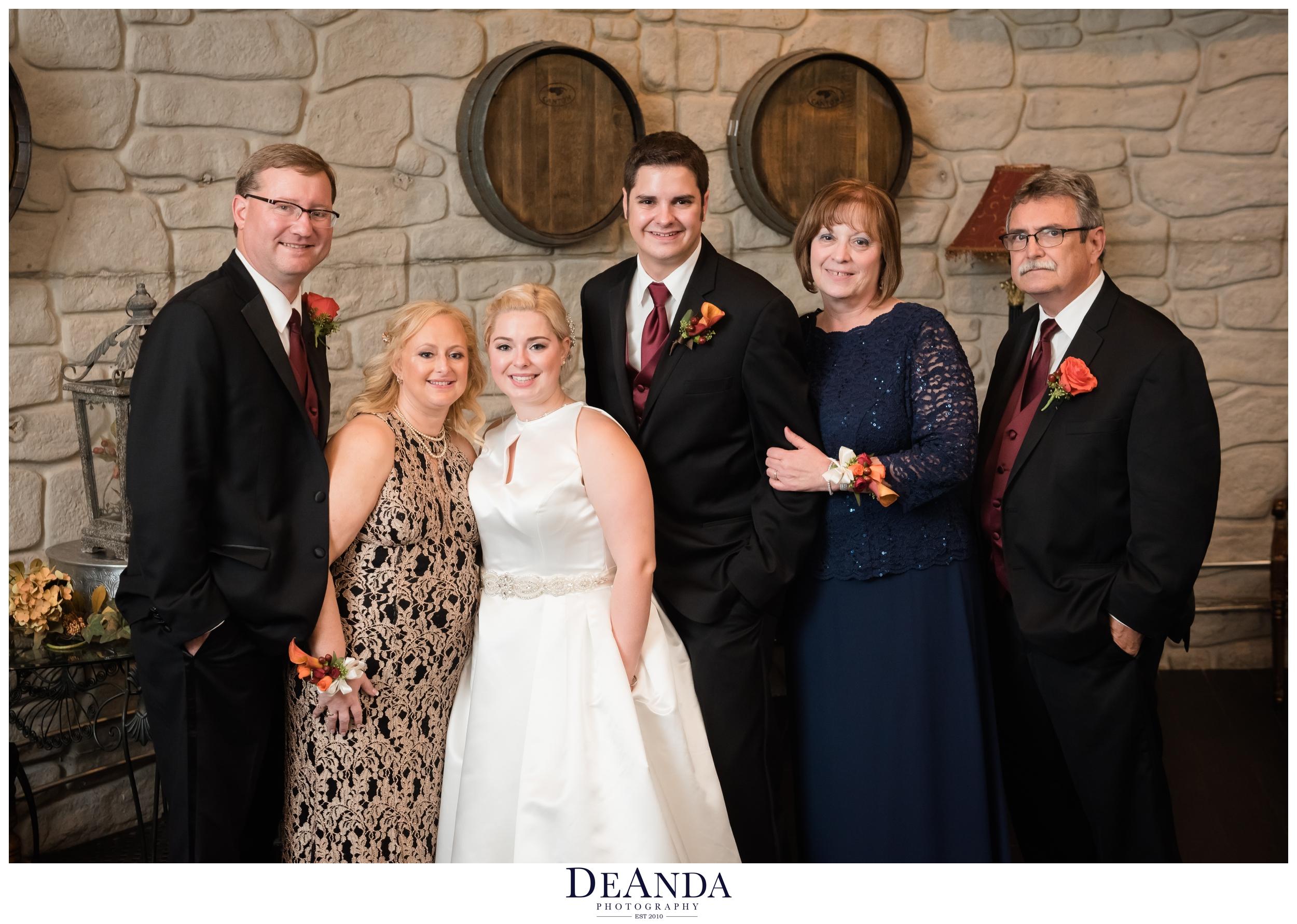family formals photos at acquaviva winery