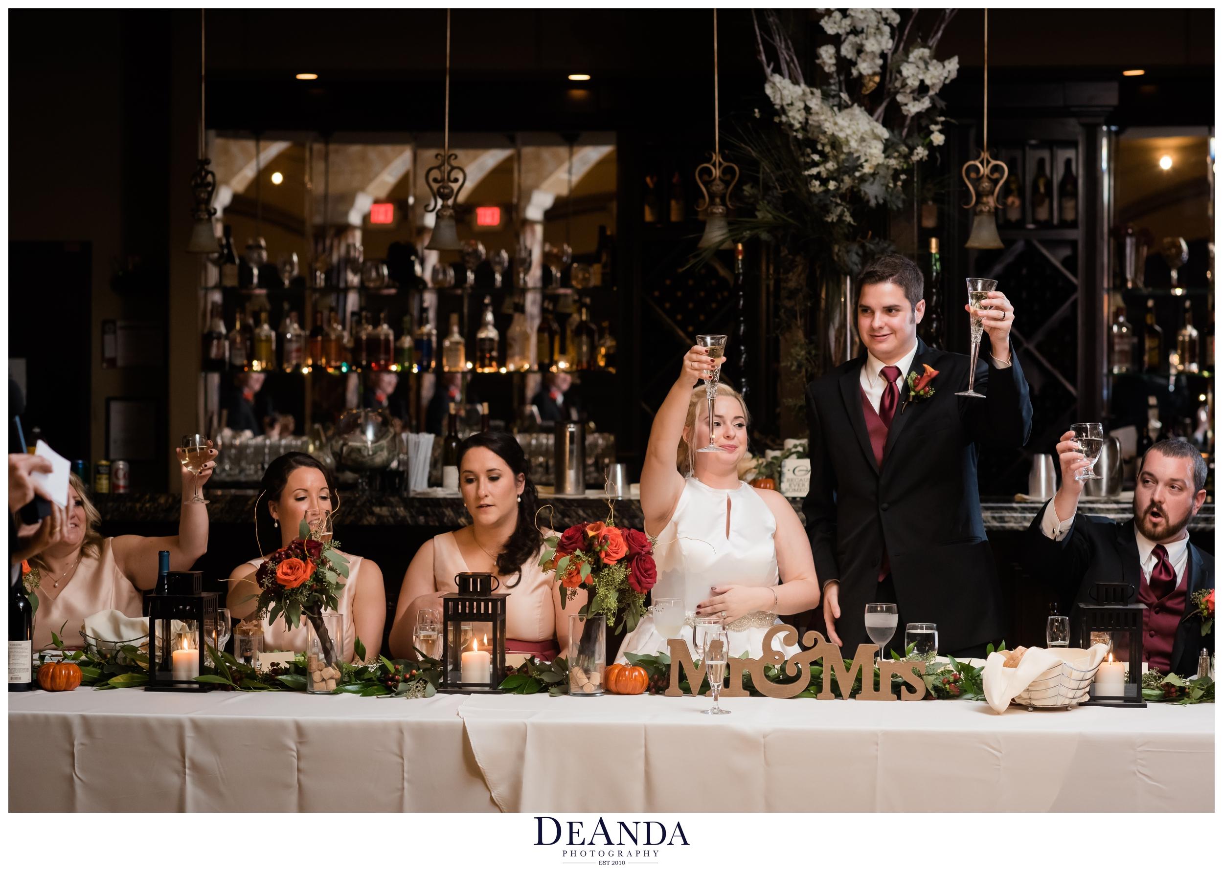 toasts at acquaviva winery