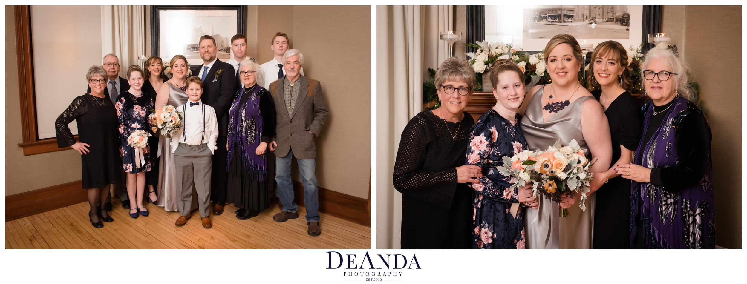family formals at Tree Studios Chicago