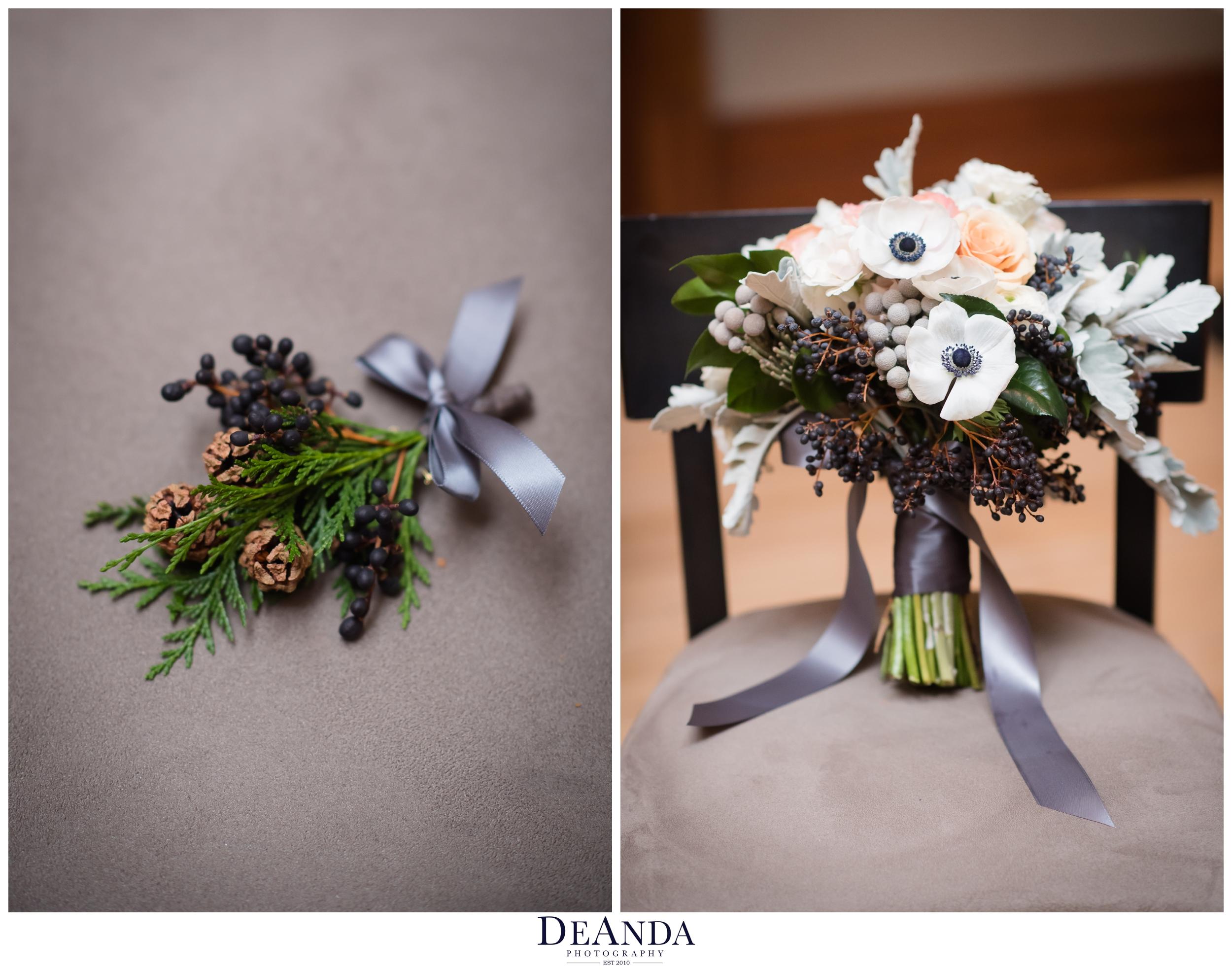 winer wedding florals in chicago