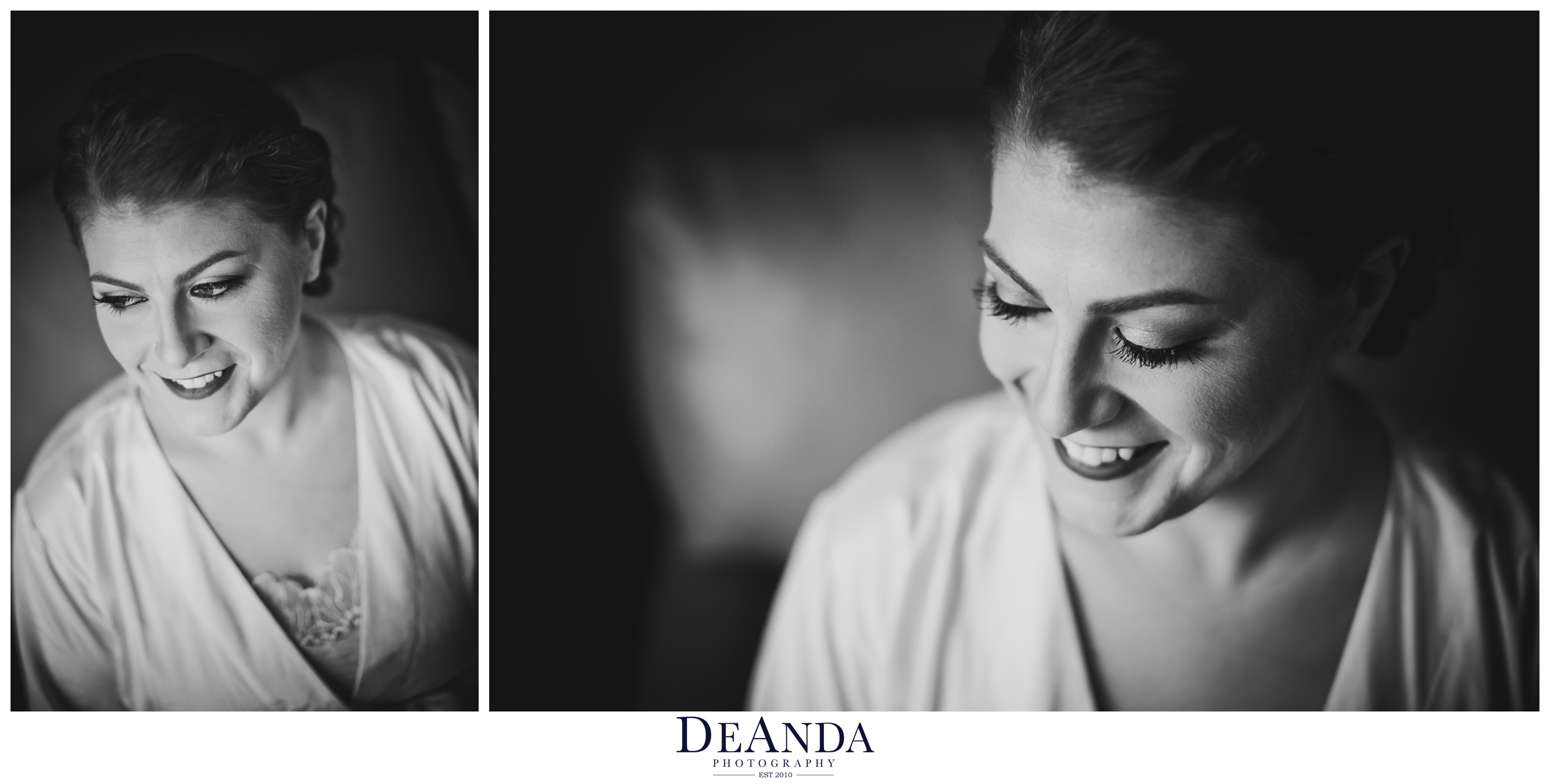 beautiful bride in black and white in chicago
