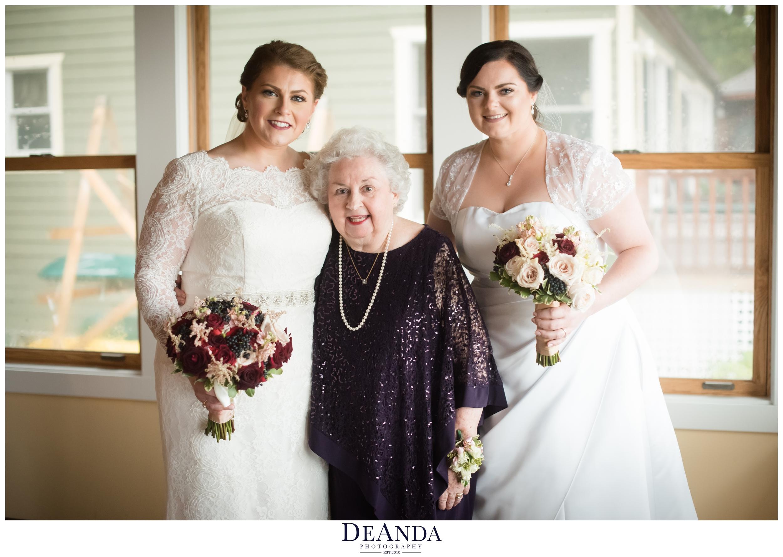 brides with their grandma