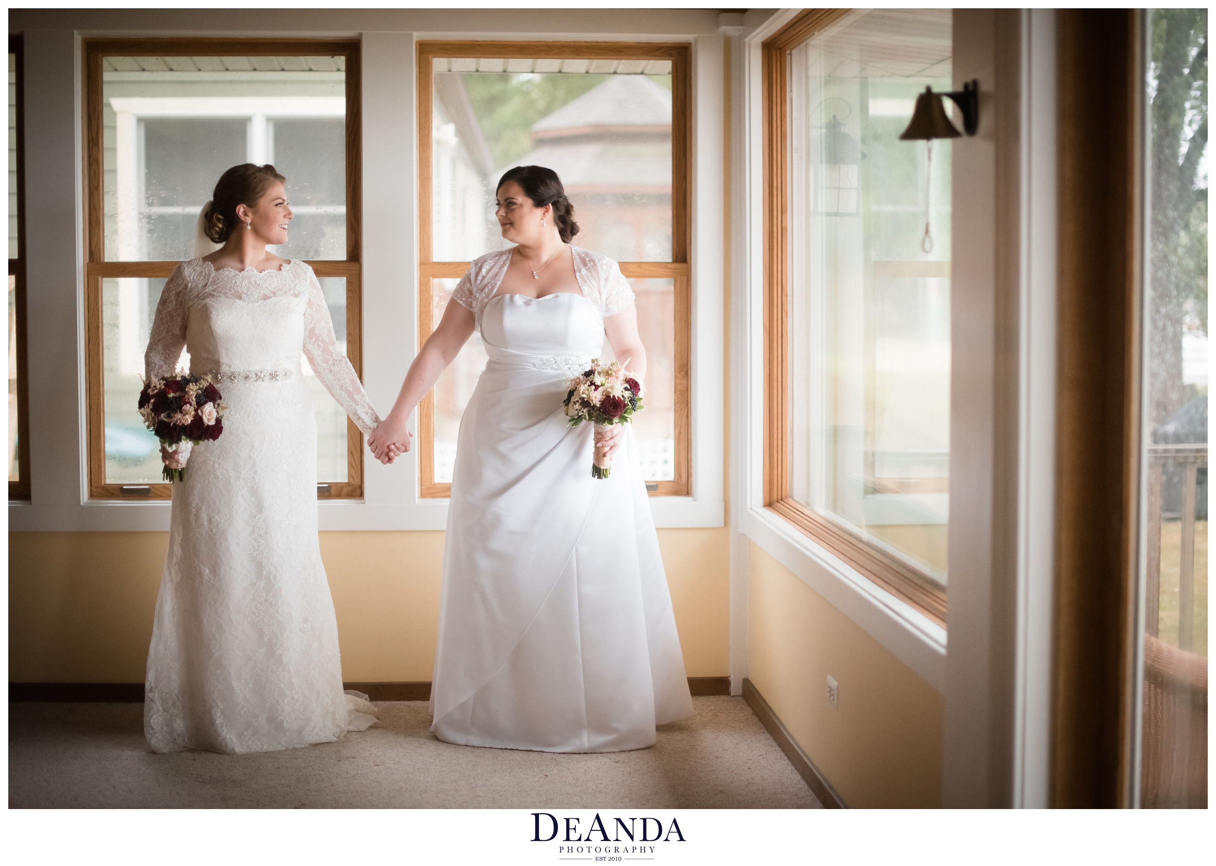 brides on their wedding day in chicago