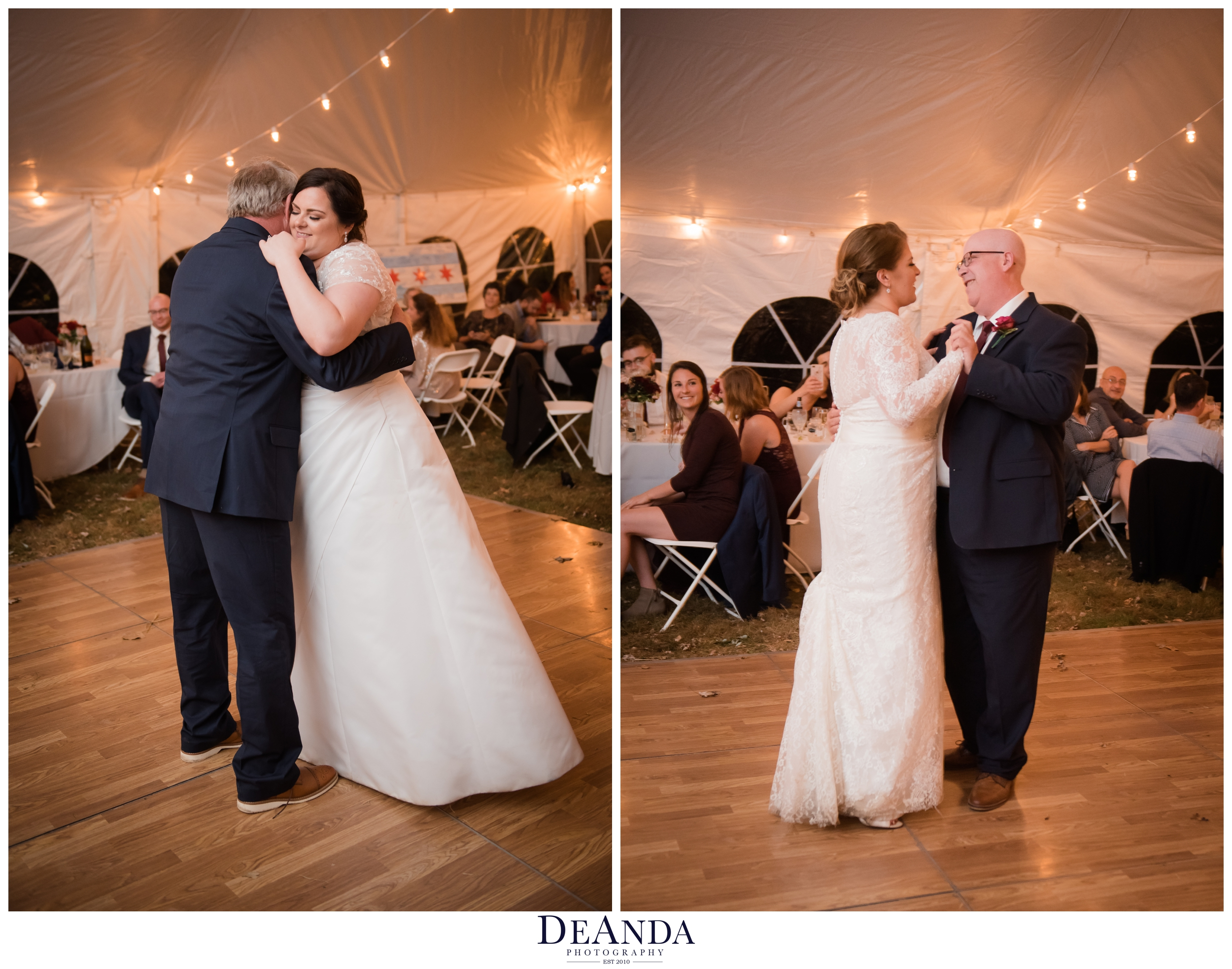 brides having their first dances with their dads