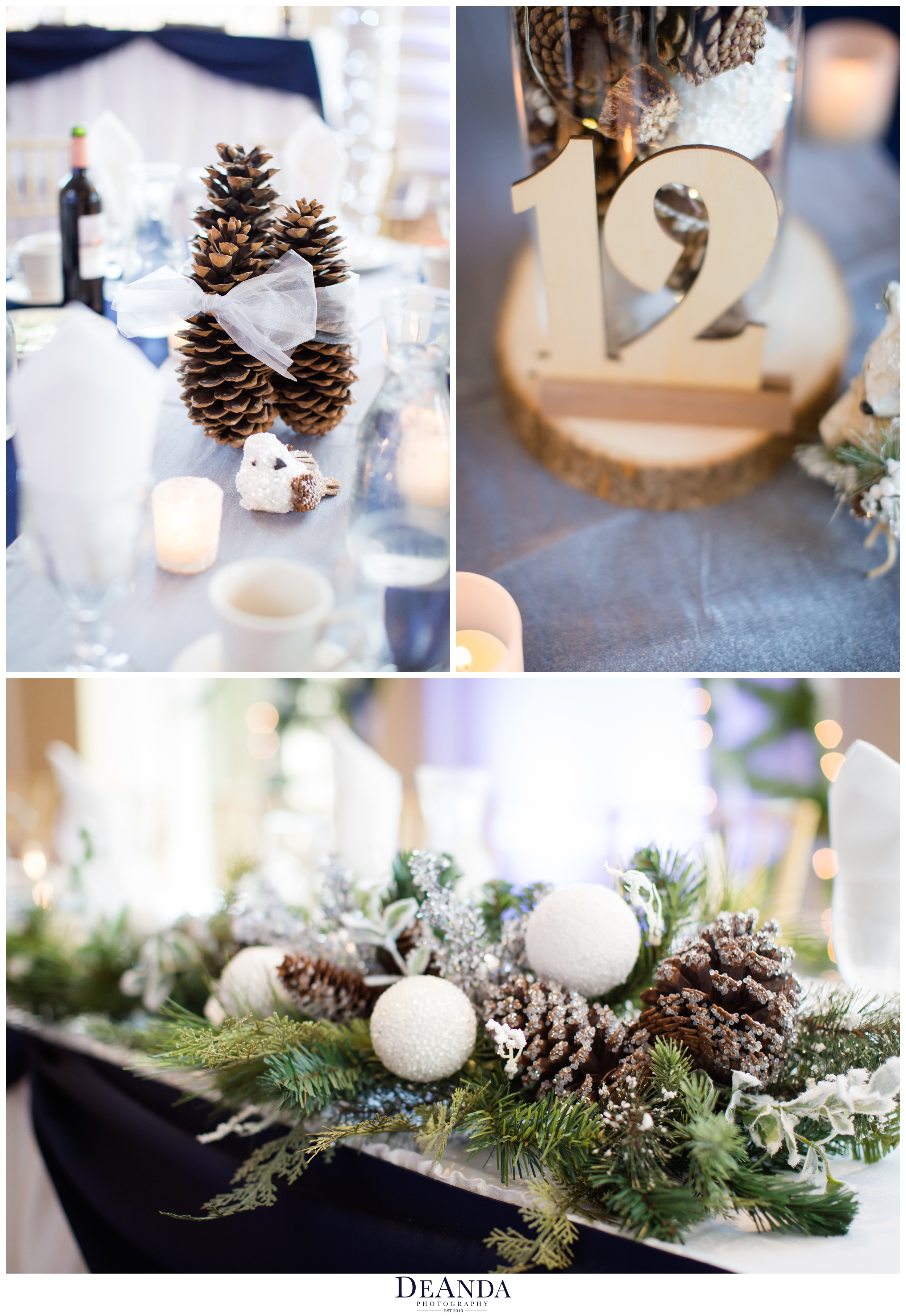winter woodland animal table centerpieces