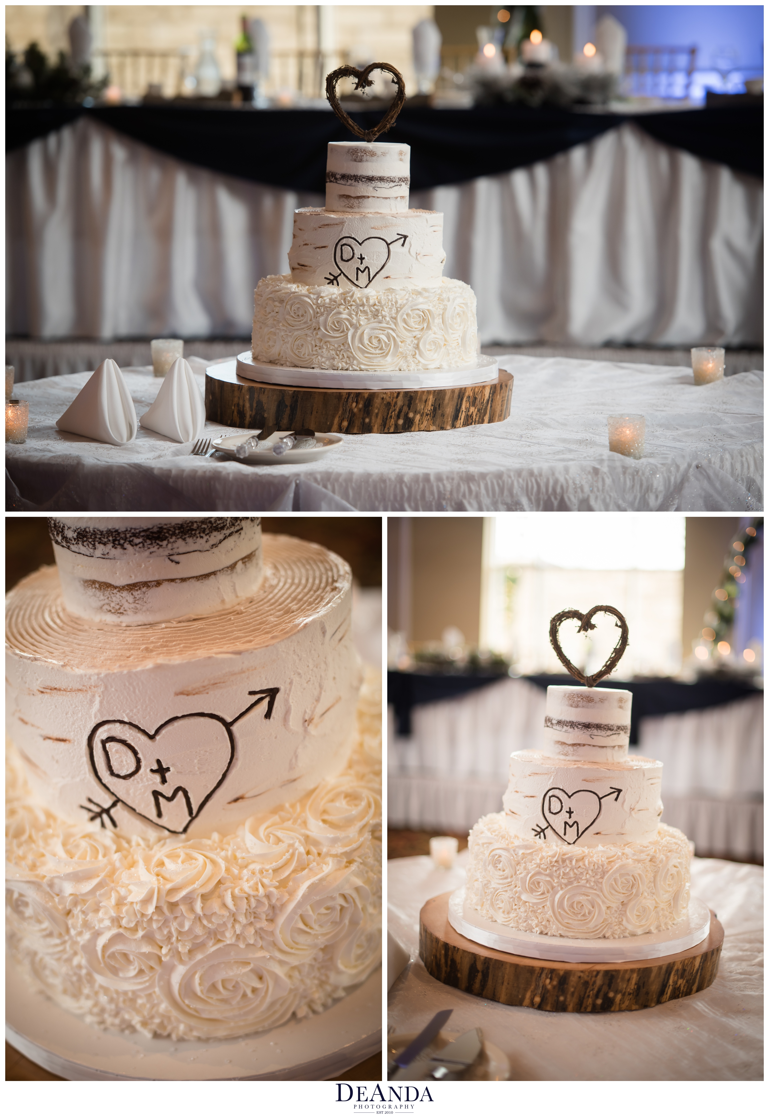 creative cakes wedding cake with rustic touches