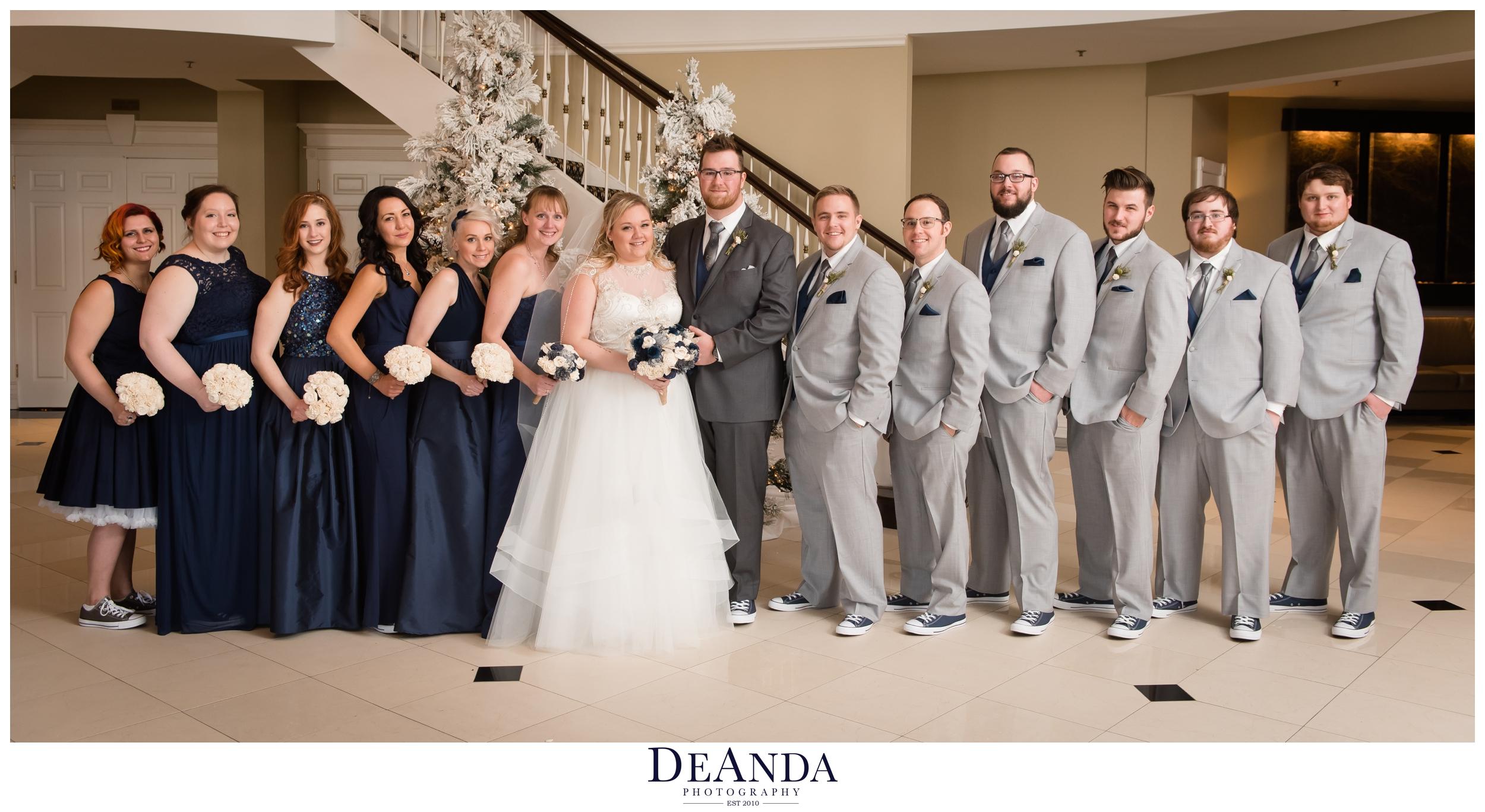 wedding party at tuscany falls