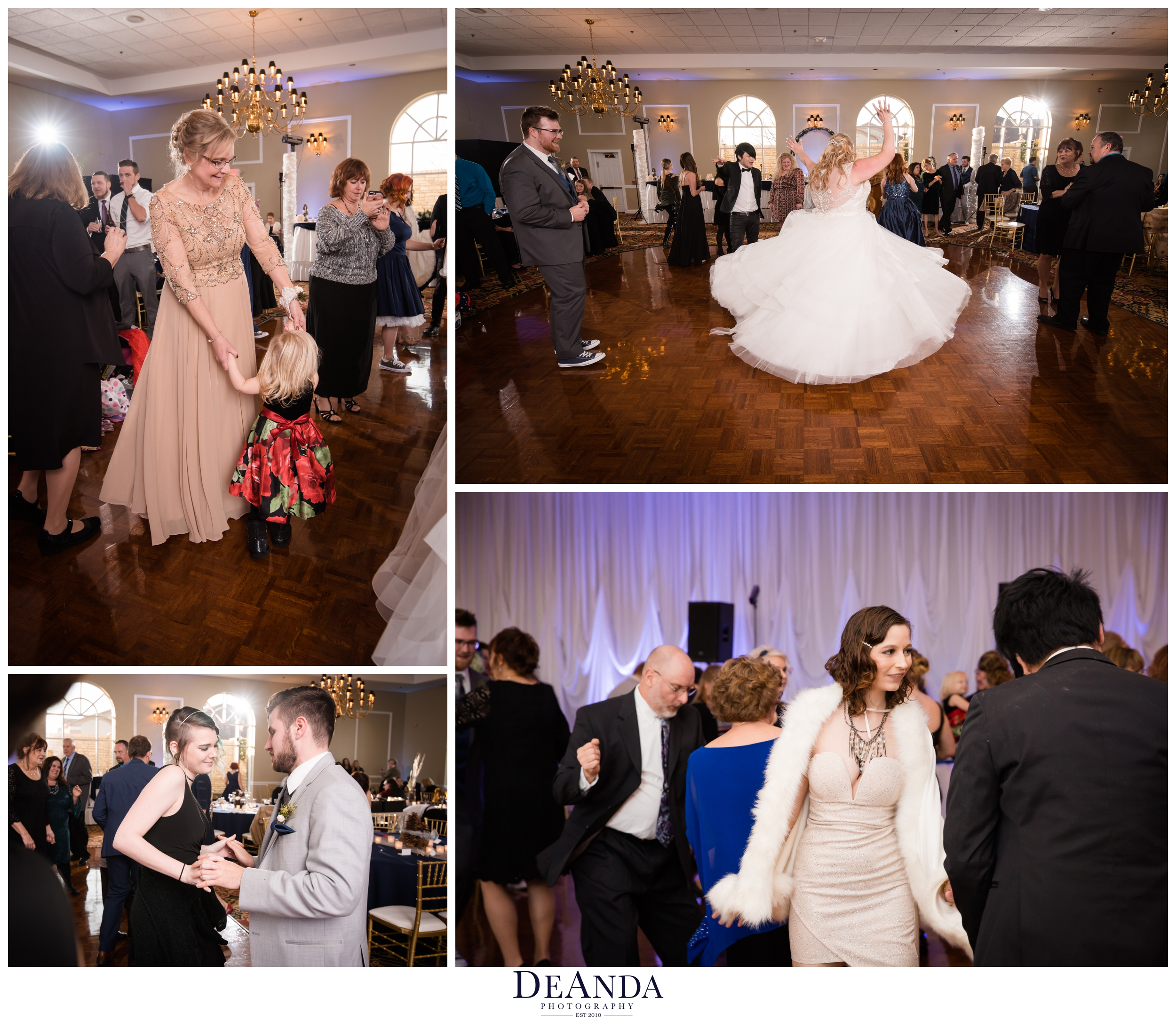 open dance at wedding at tuscany falls