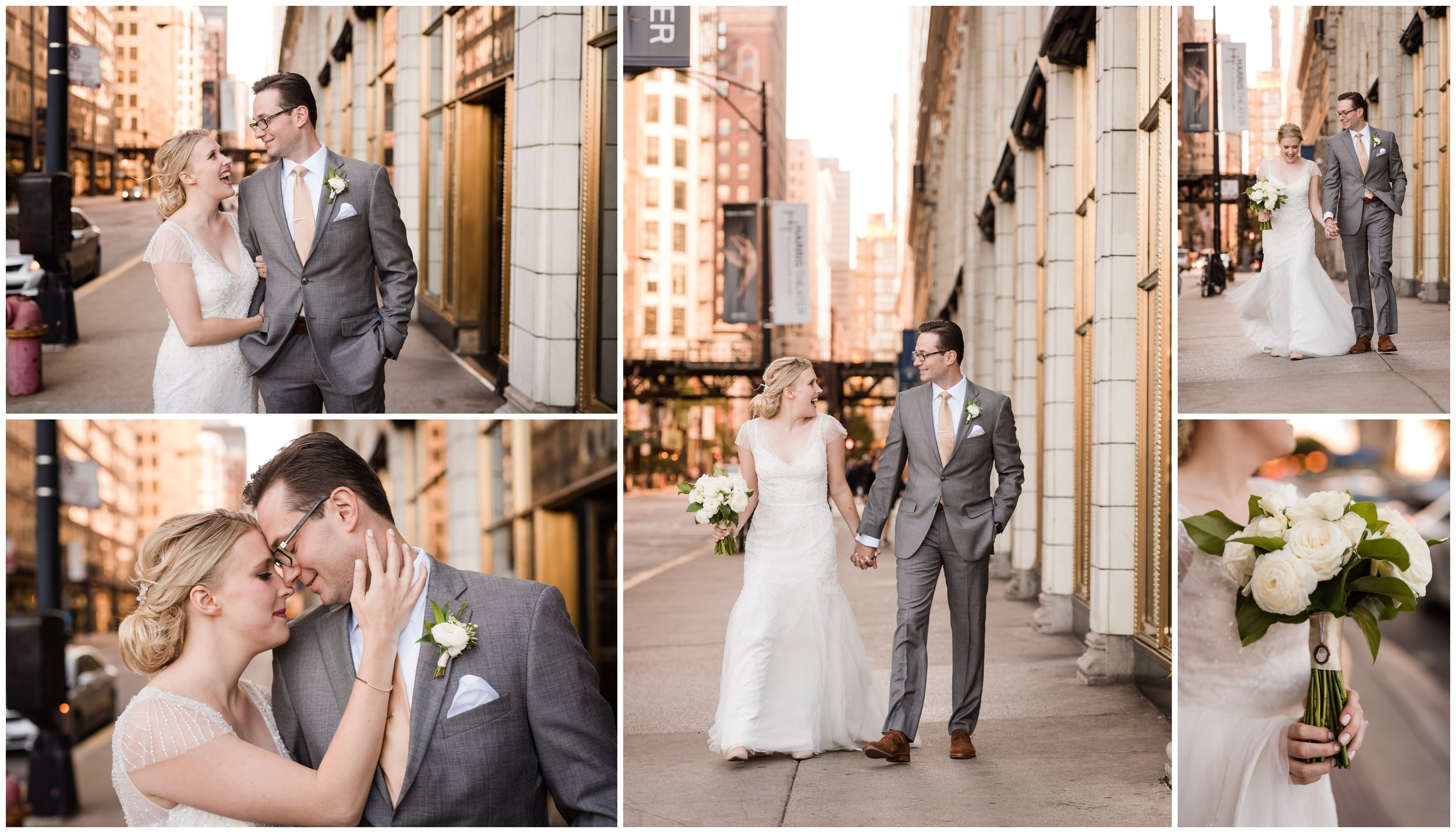 Chicago Street Photography for wedding day