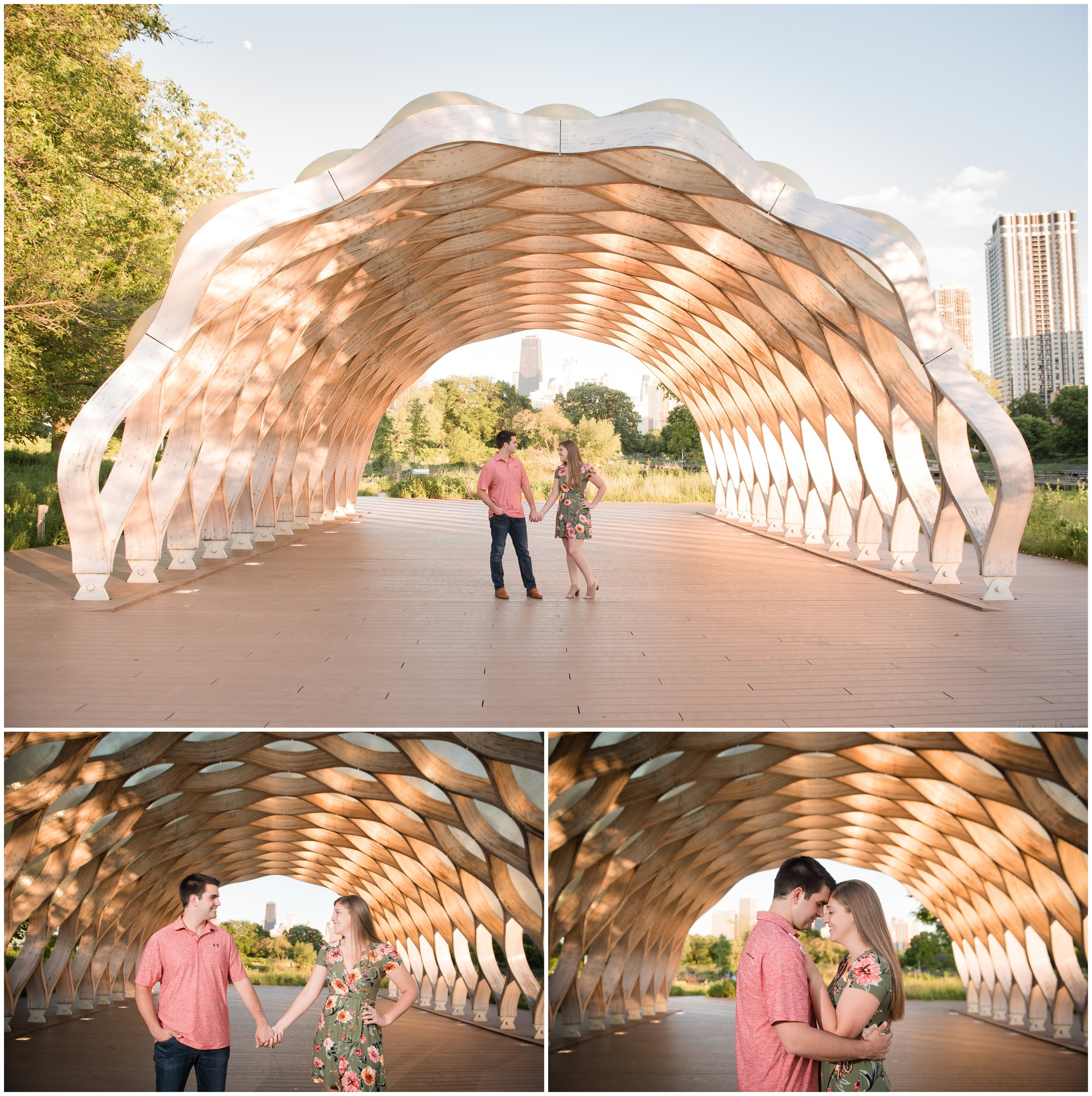 South Pond Honeycomb Chicago Engagement Photos