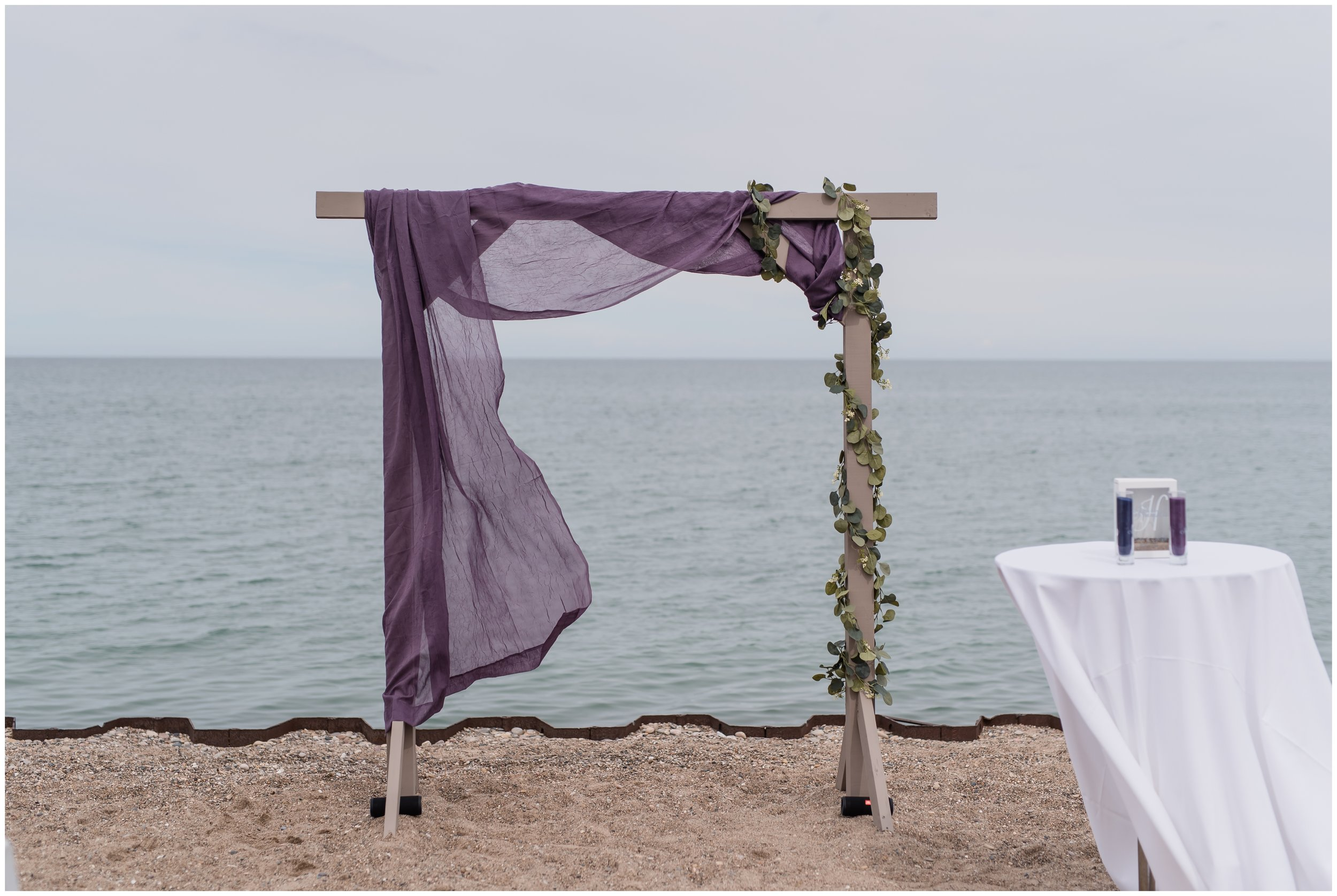 Illinois Beach Resort Zion Summer Wedding Ceremony Arch