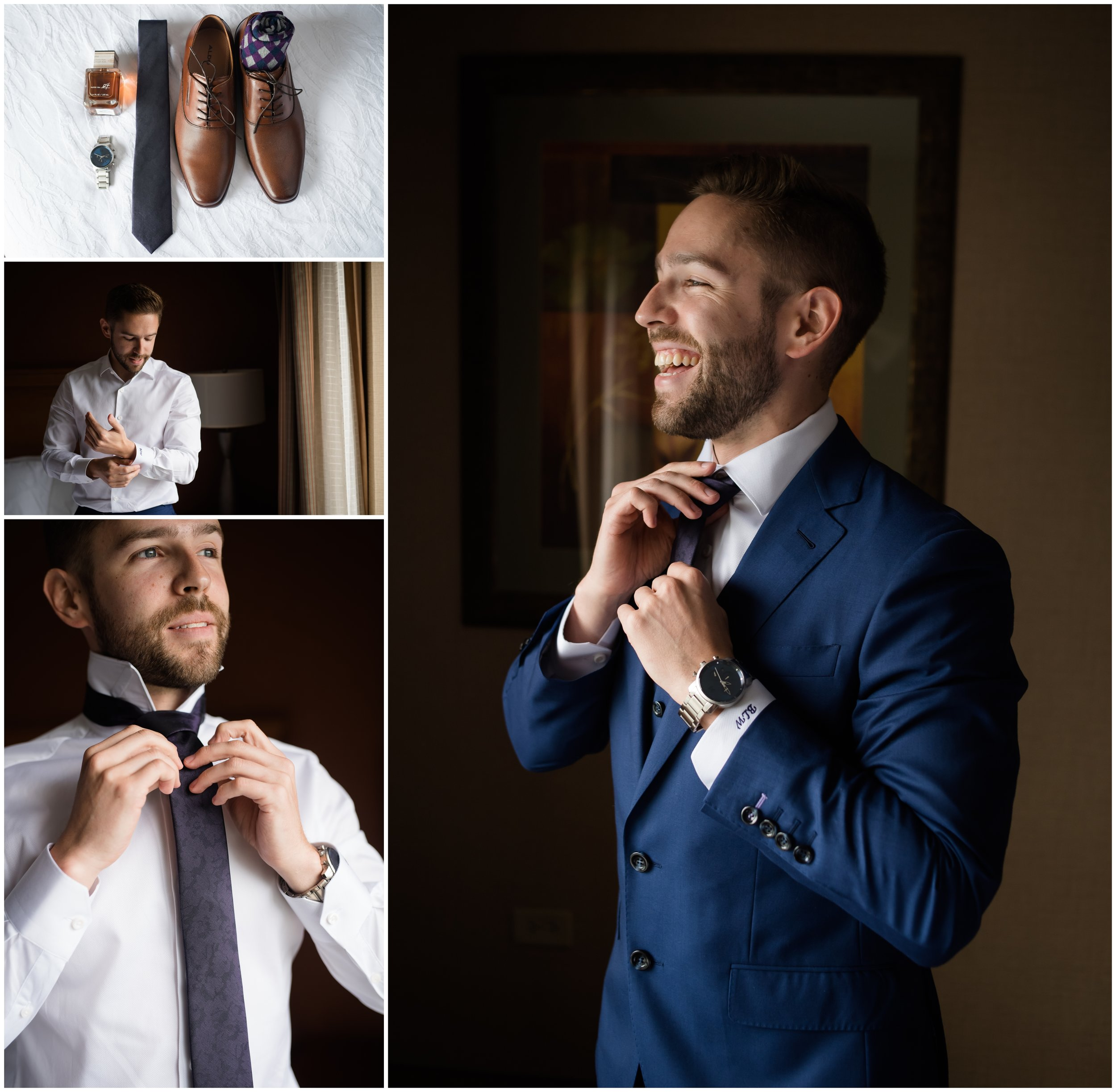 Groom getting ready Orland Park