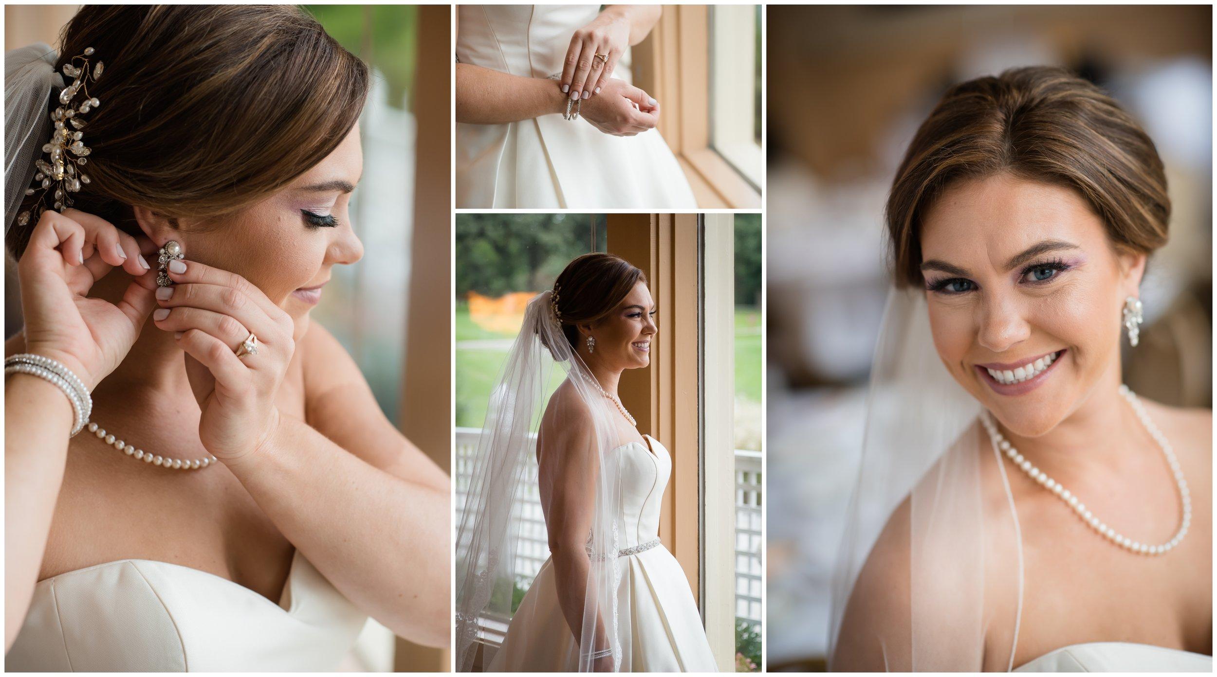 Bride getting ready at Silver Lake