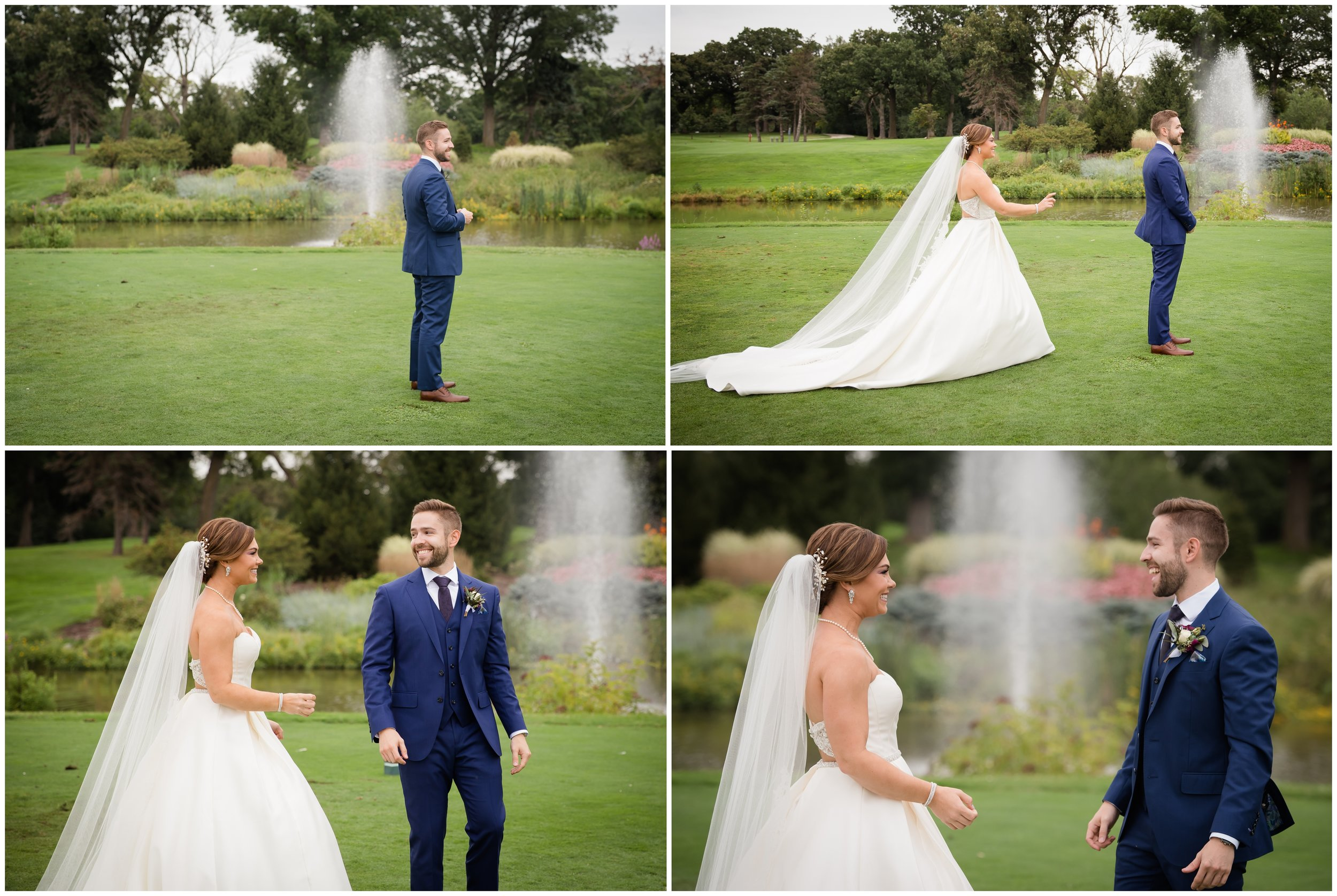 First Look at Silver Lake Country Club Wedding