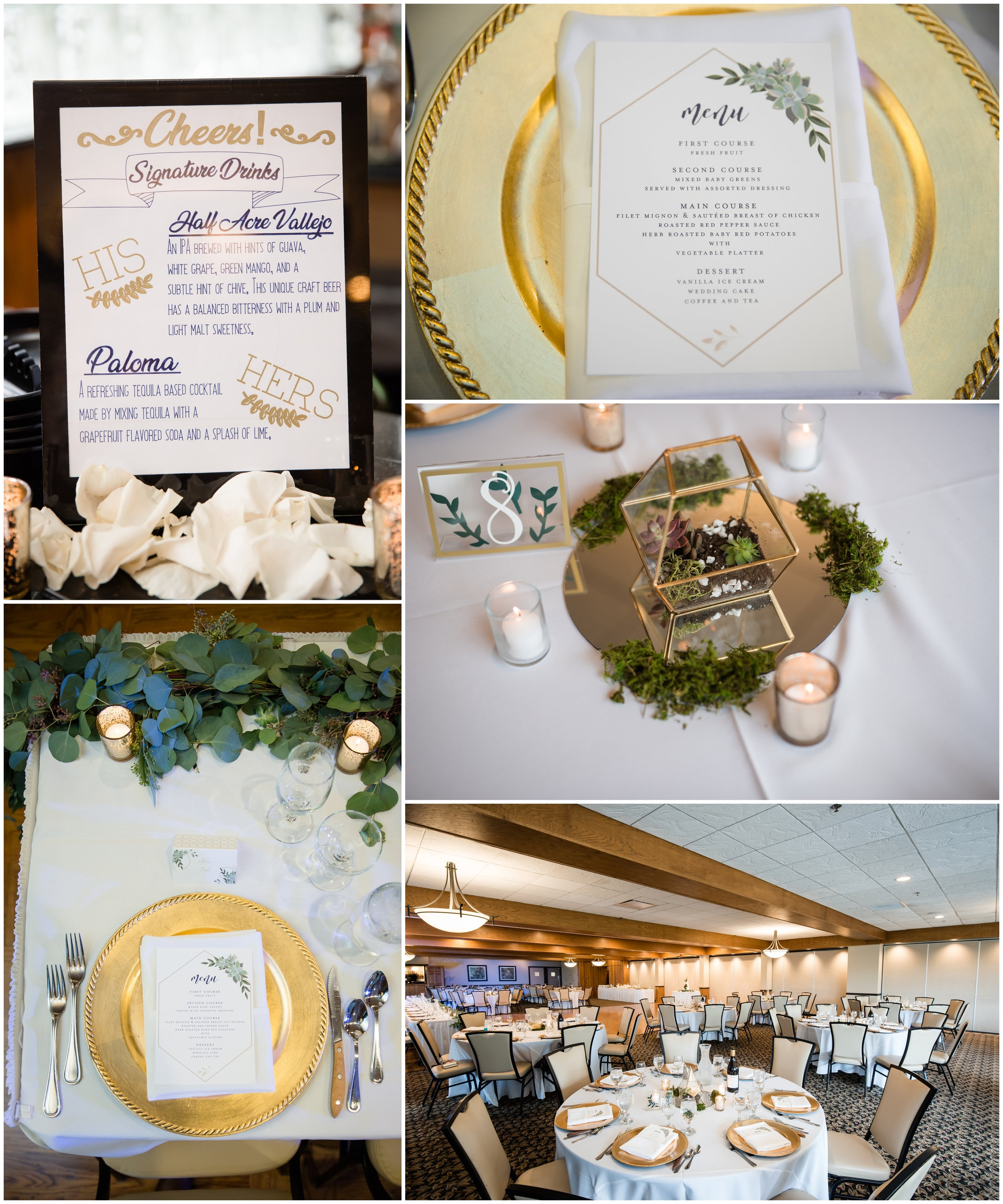 Silver Lake Country Club Wedding succulents