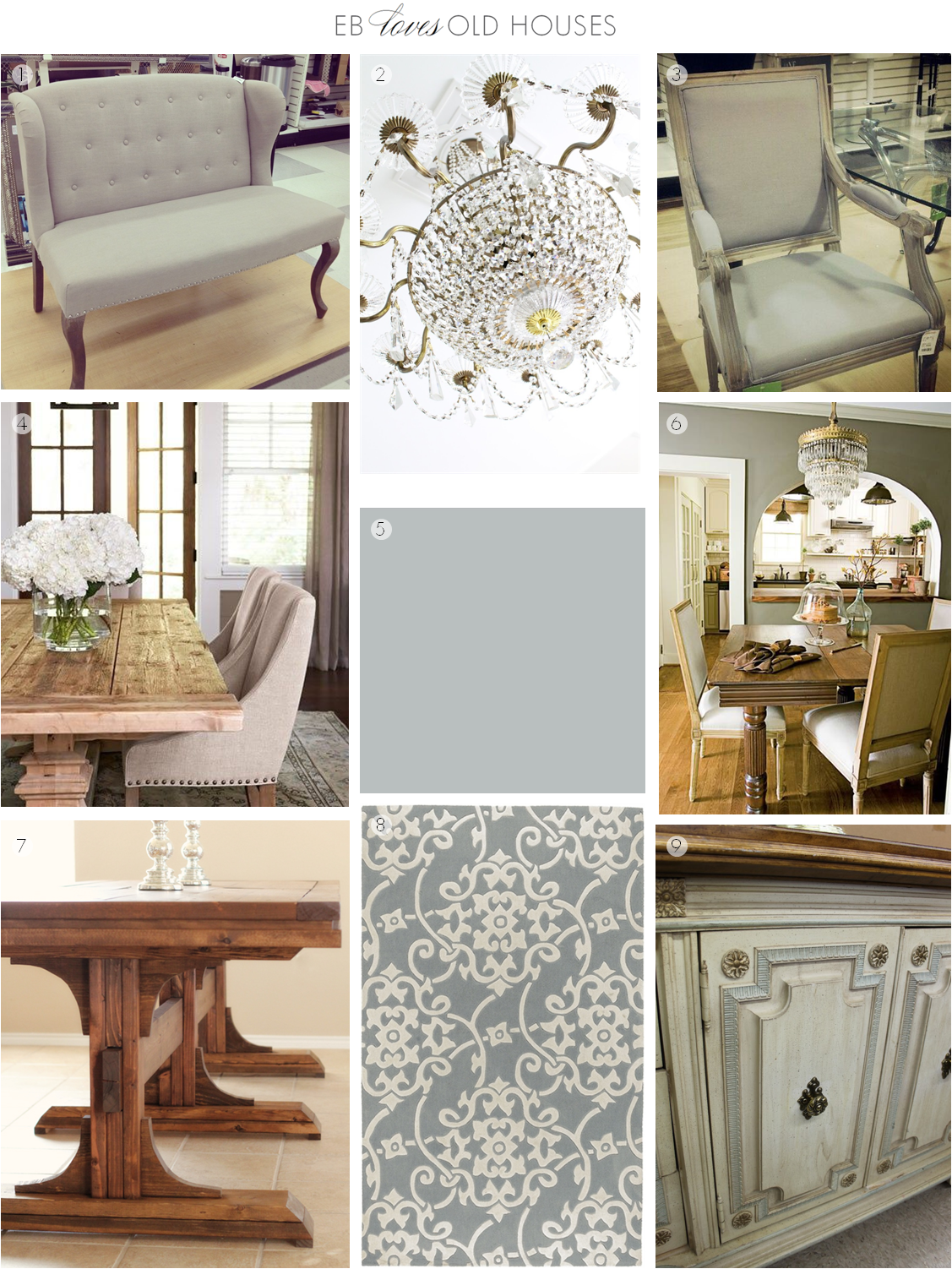 EB Loves Old Houses | Dining Room Desing Inspiration Board