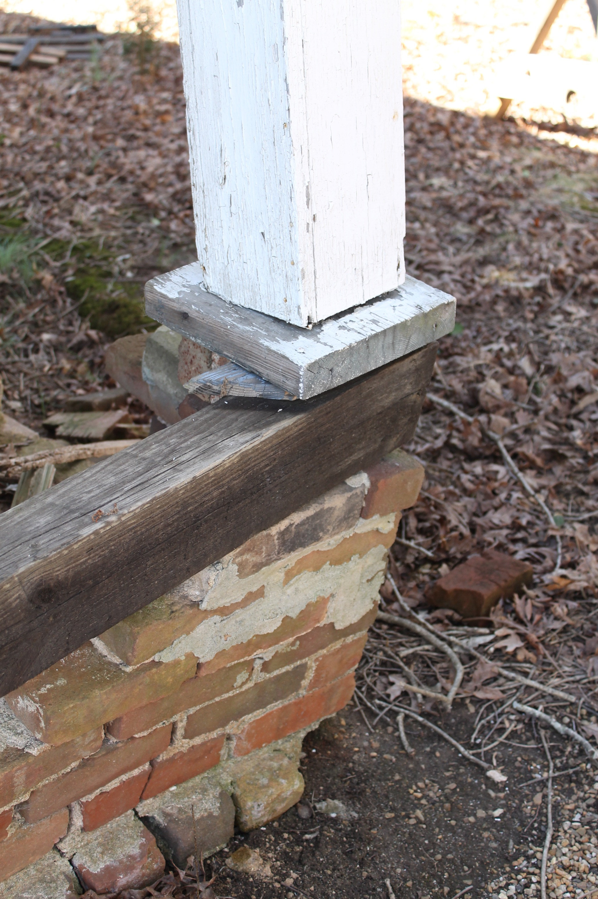 EB Loves Old Houses | DIY Column Support