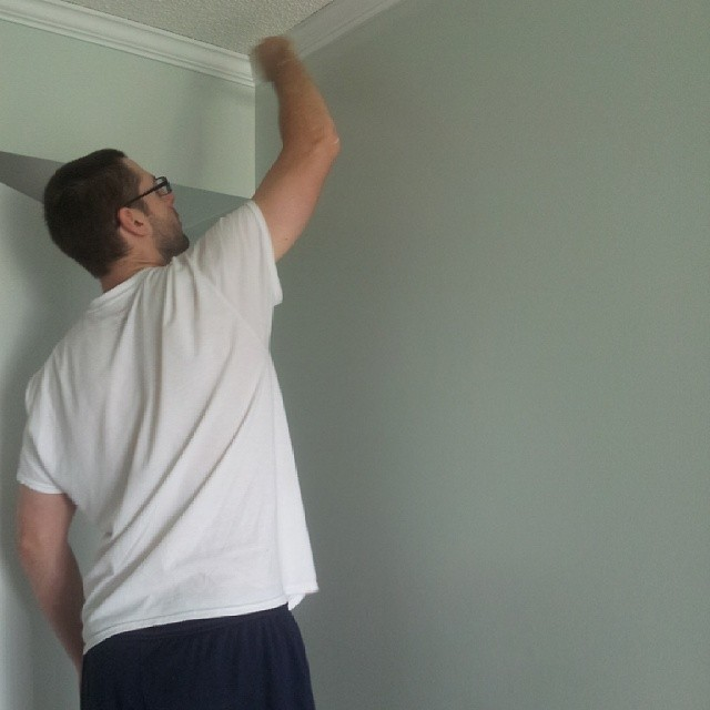 Painting the bedroom my new favorite color - Valspar Winter in Paris
