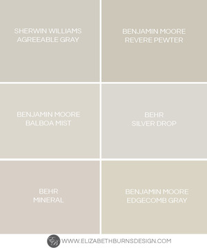 The Perfect Shades Of Greige Paint Colors Elizabeth Burns Design Raleigh Nc Interior Designer