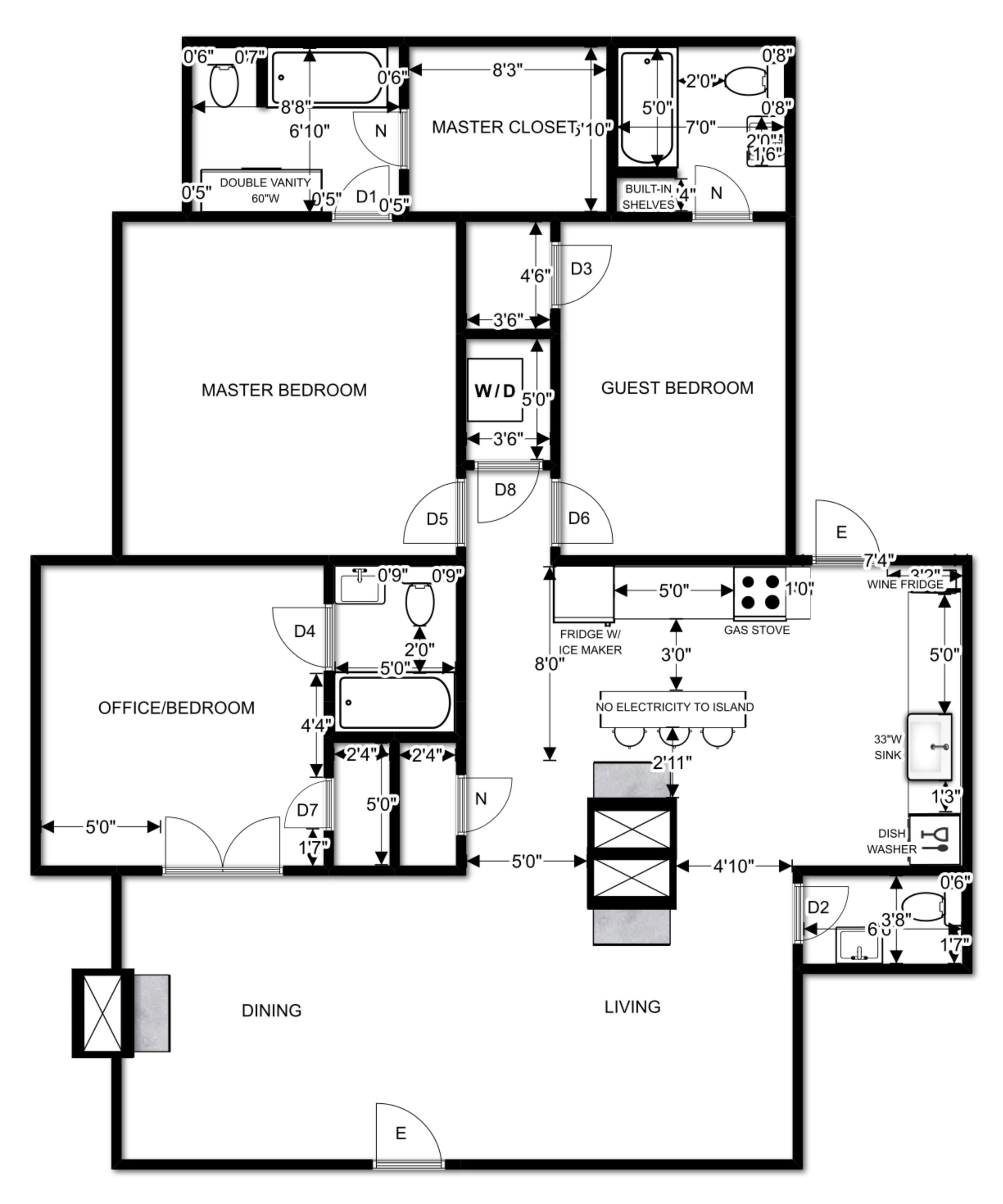 Elizabeth Burns Design | Myrtle House Floor Plan
