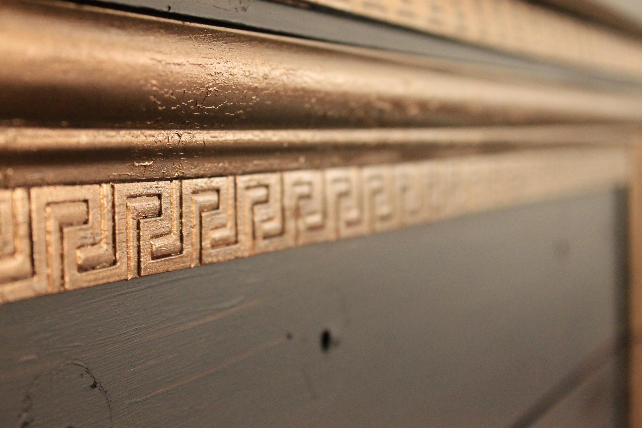 Elizabeth Burns Design | Black and Gold Dresser DIY