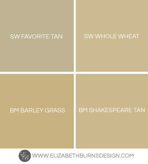 Gold Paint Colors >> Shades Of Gold Paint Colors Elizabeth Burns Design