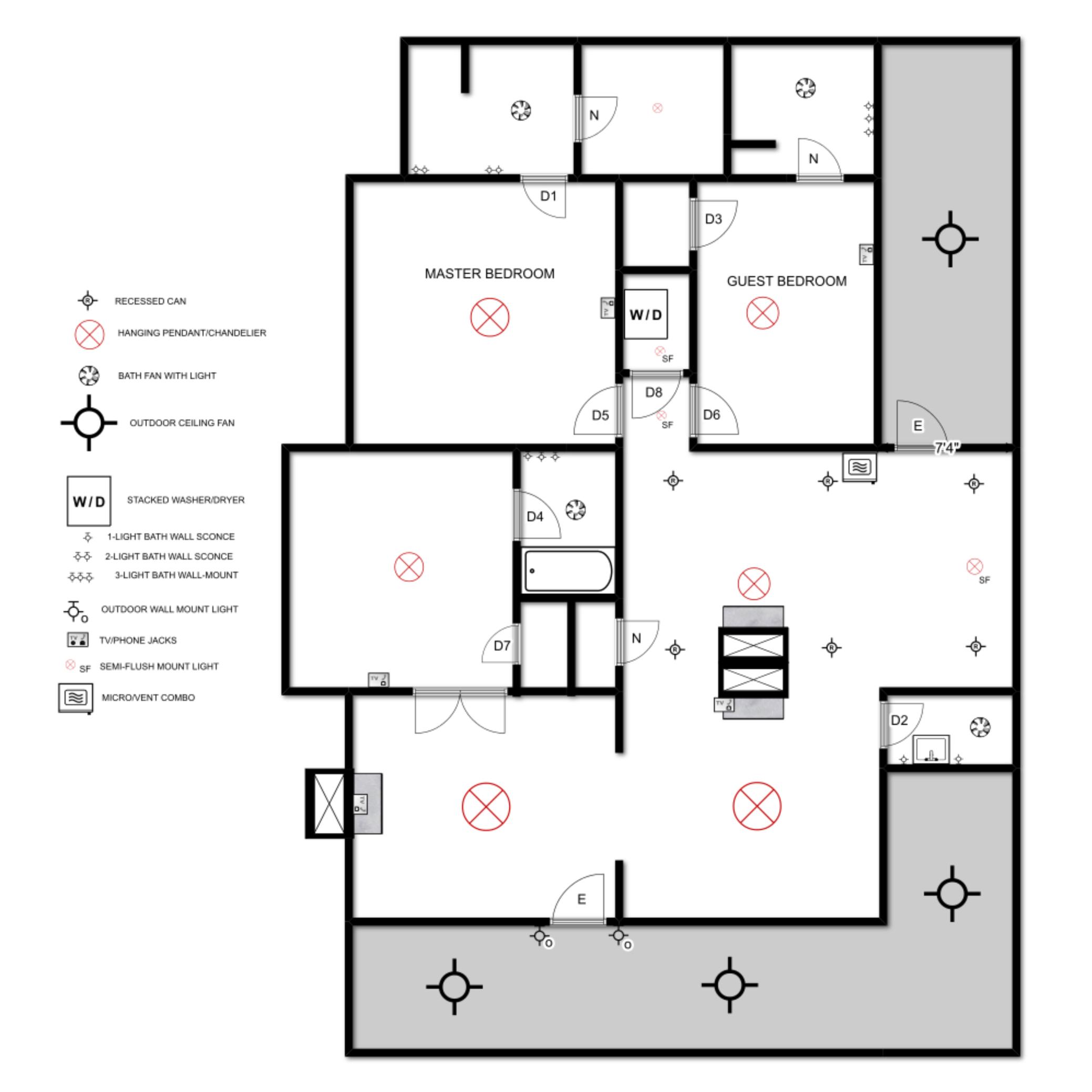 electrical plan myrtle house \u2014 elizabeth burns design Bathroom Electrical Plan