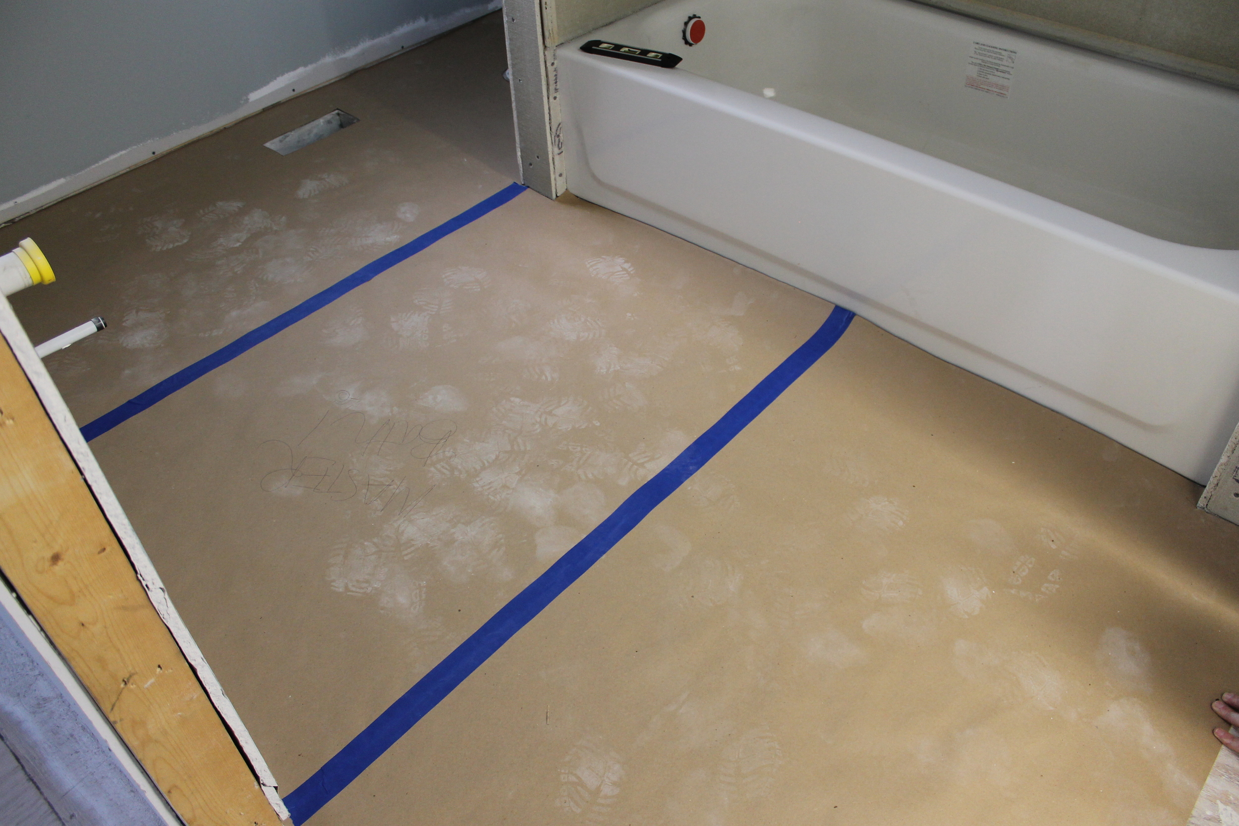 Elizabeth Burns Design | Step by Step Guide on How To Install Vinyl Sheet Flooring, DIY