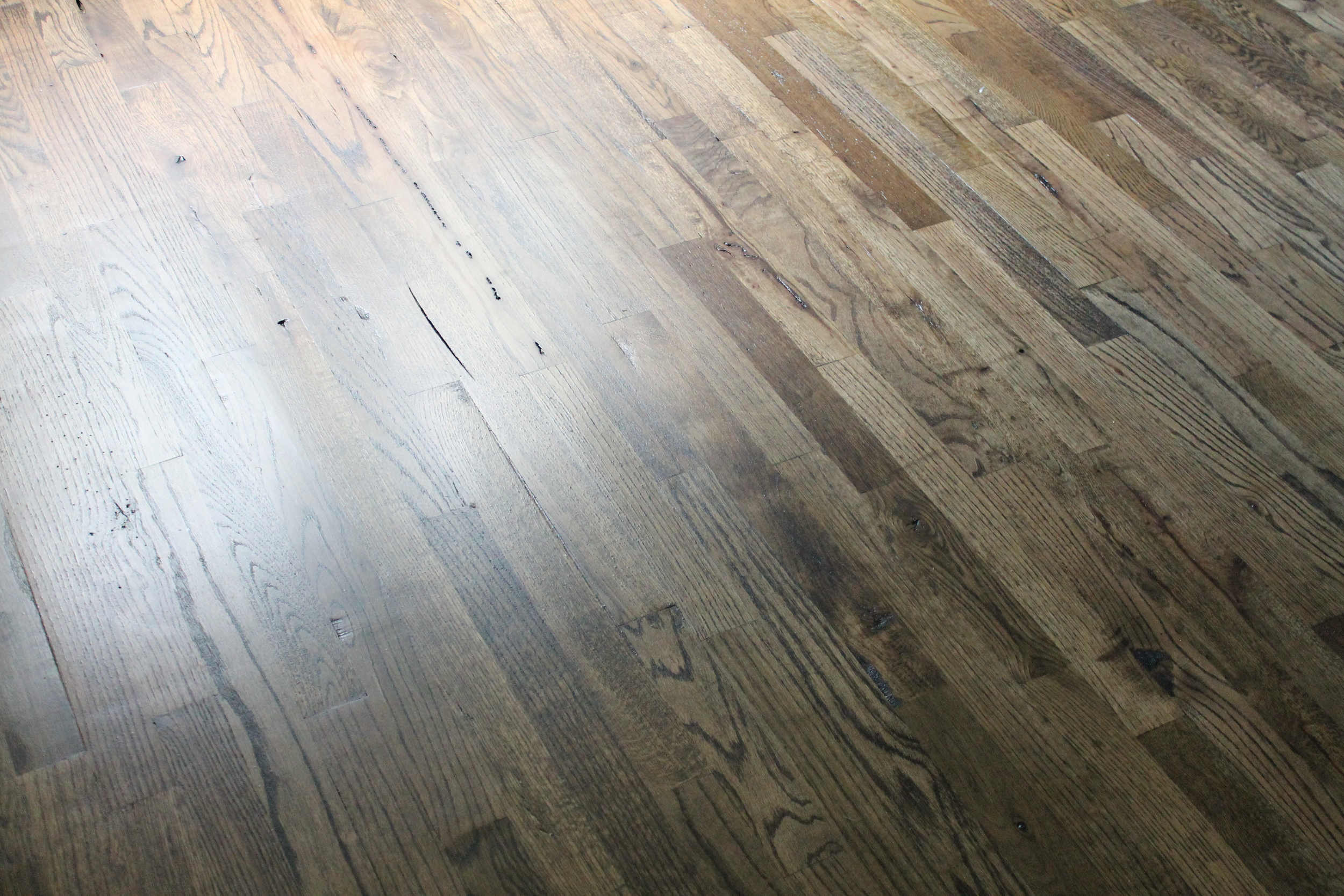 Elizabeth Burns Design | DIY Utility Grade Oak Flooring - How to install solid hardwood flooring