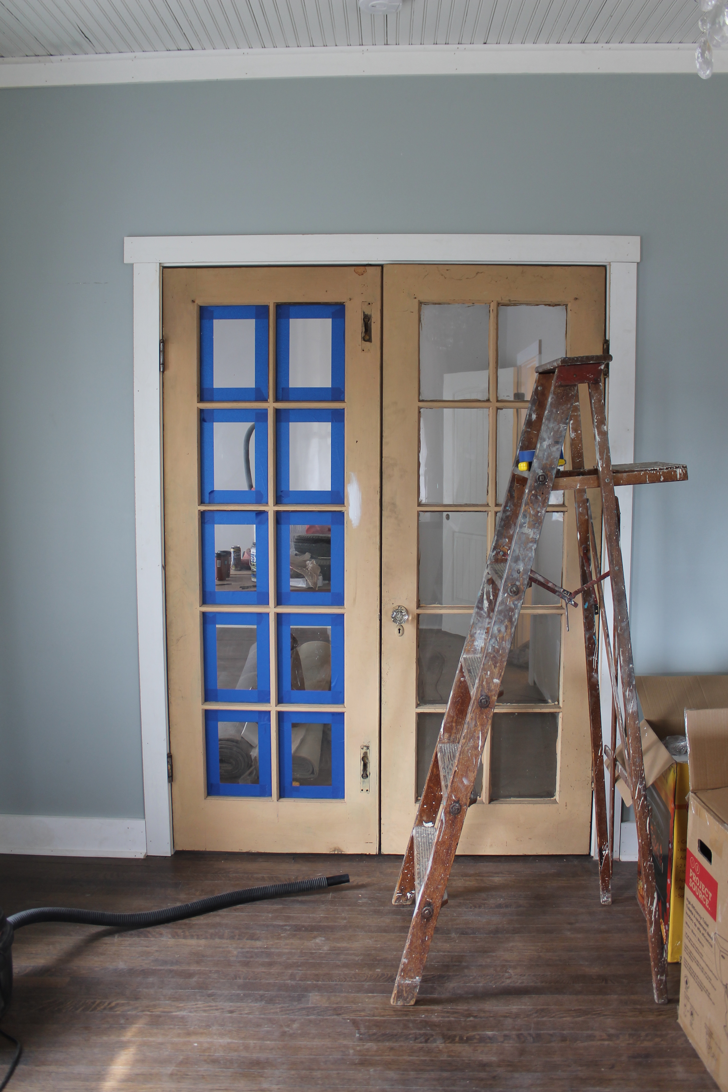 Elizabeth Burns Design | Painting French Doors, Old House Renovation