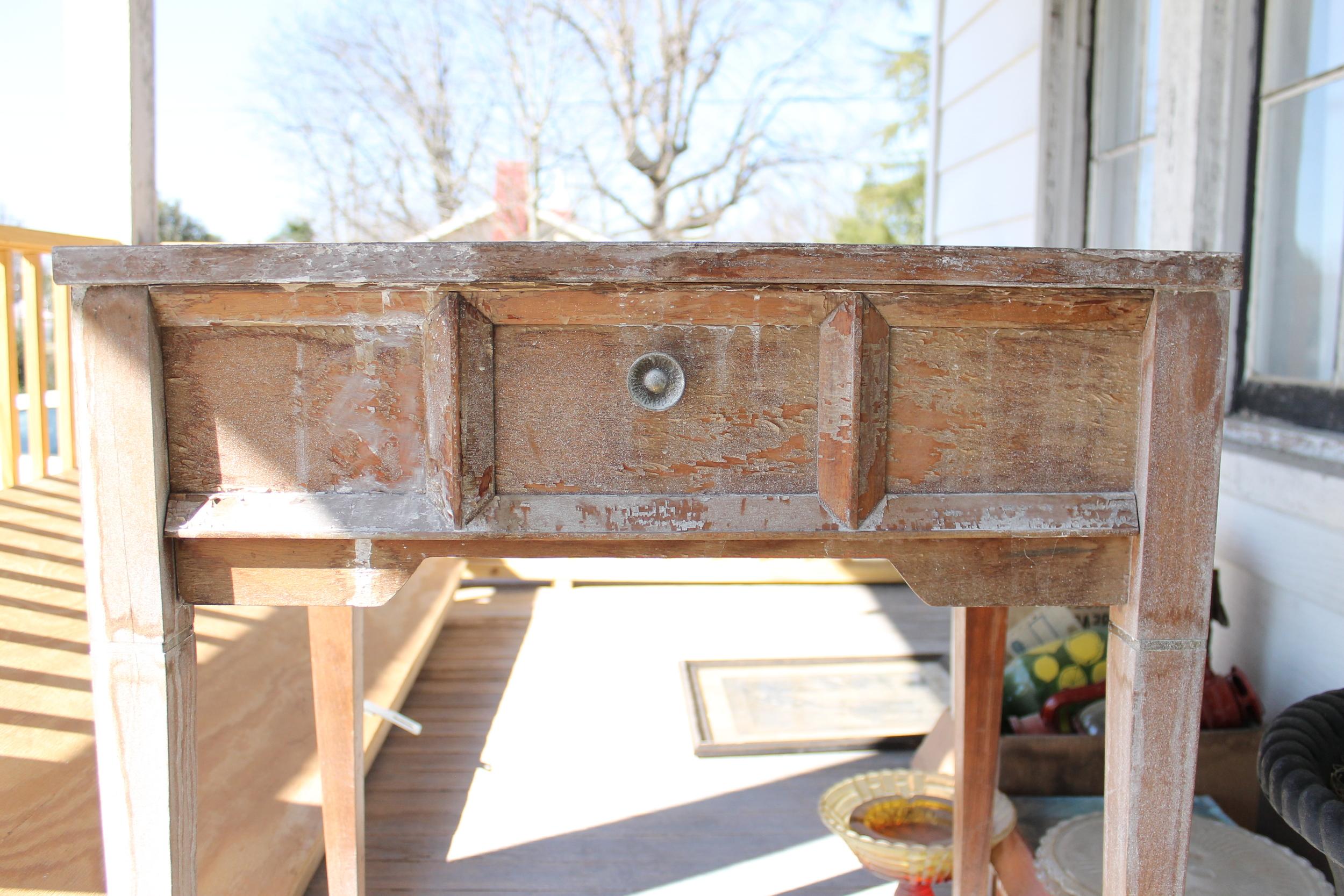 Elizabeth Burns Design | Repurposed sewing table, DIY painted furniture