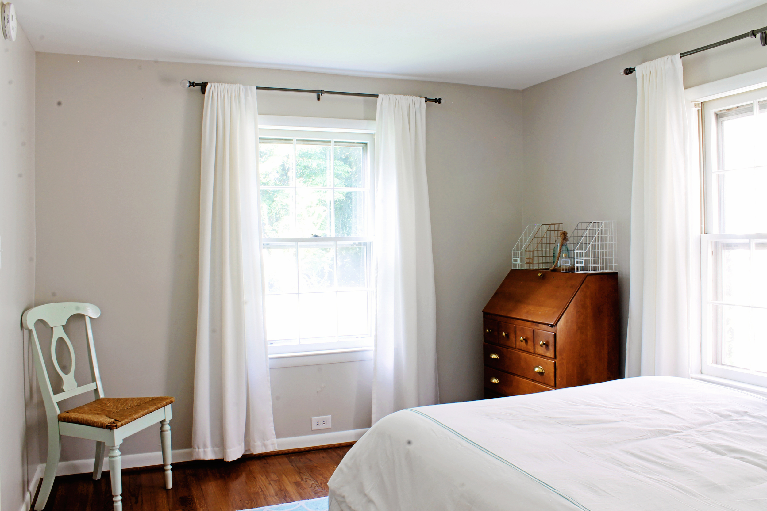 Elizabeth Burns Design | Sherwin Williams Agreeable Gray, Bedroom Design, Raleigh NC Interior Design, Before and After