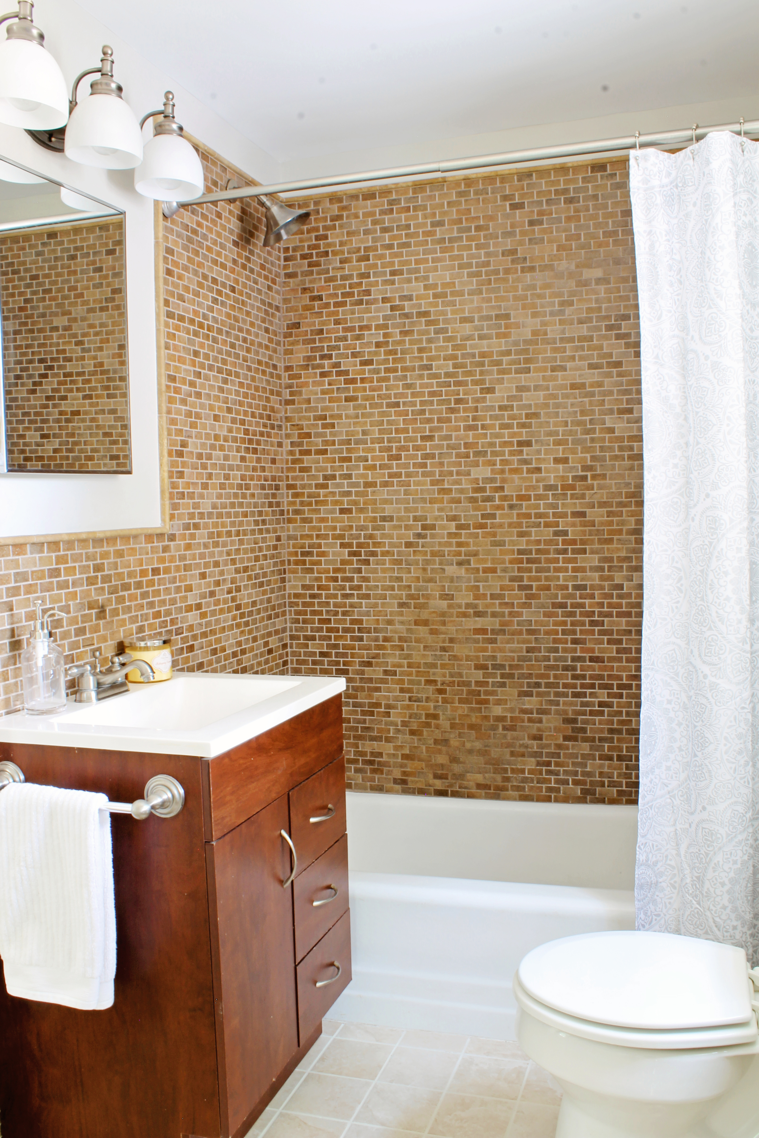 Elizabeth Burns Design | Sherwin Williams Agreeable Gray, Bathroom Design, Raleigh NC Interior Design, Before and After