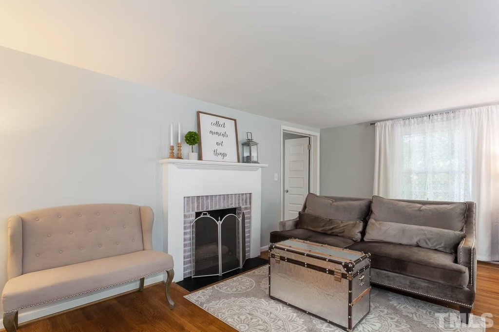 Elizabeth Burns Design | Sherwin Williams Silver Strand, Living Room Design, Raleigh NC Interior Design, Before and After