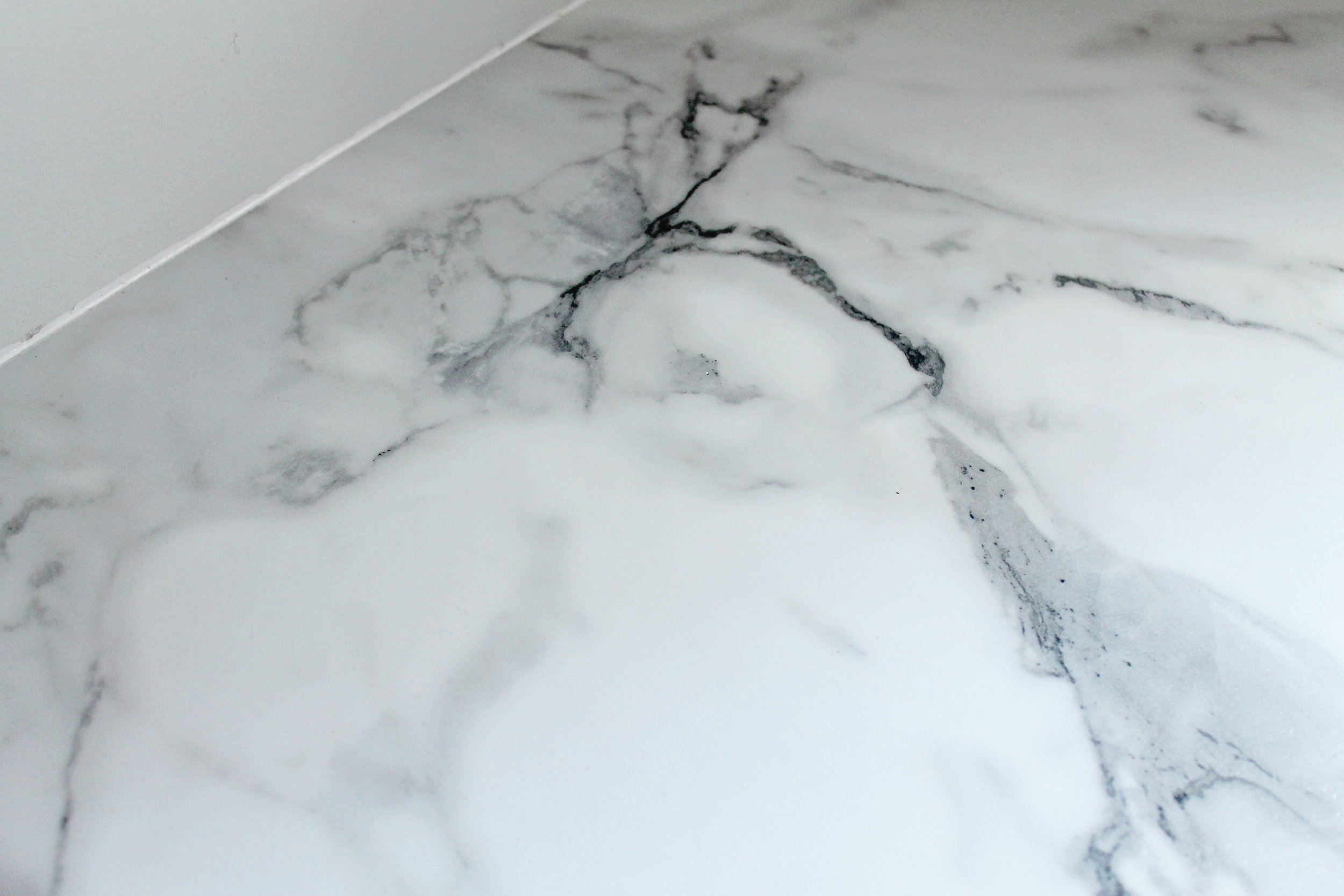 Elizabeth Burns Design | Calcutta Marble Laminate Countertop Review , Formica 180fx low maintenance