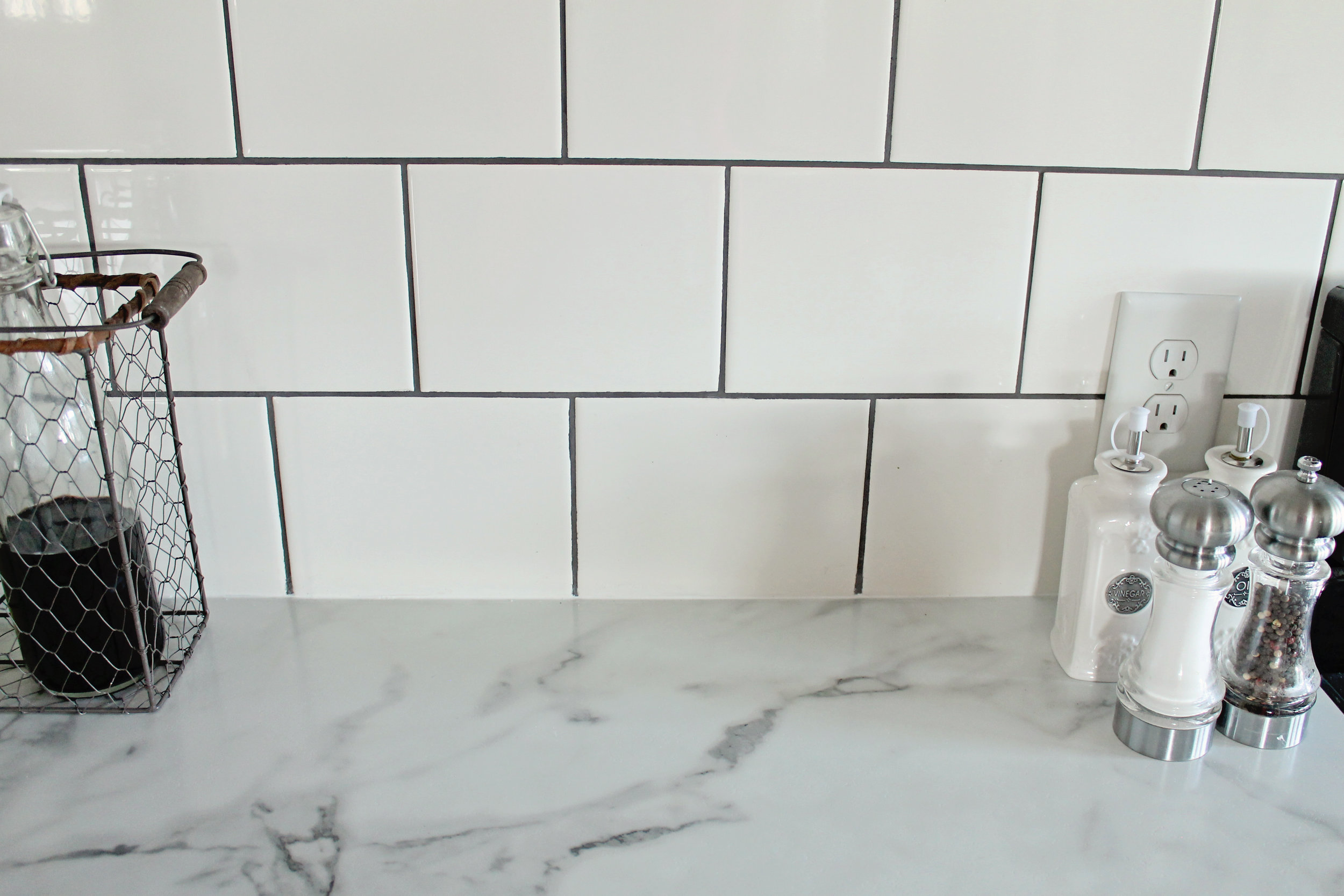 Elizabeth Burns Design | Calcutta Marble Laminate Countertop Review , Formica 180fx subway tile