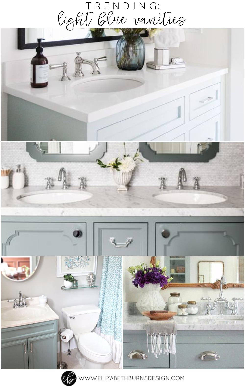 Elizabeth Burns Design | Trending - Light Blue Bathroom Vanities