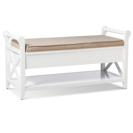White Bench with Cushion | $169.99