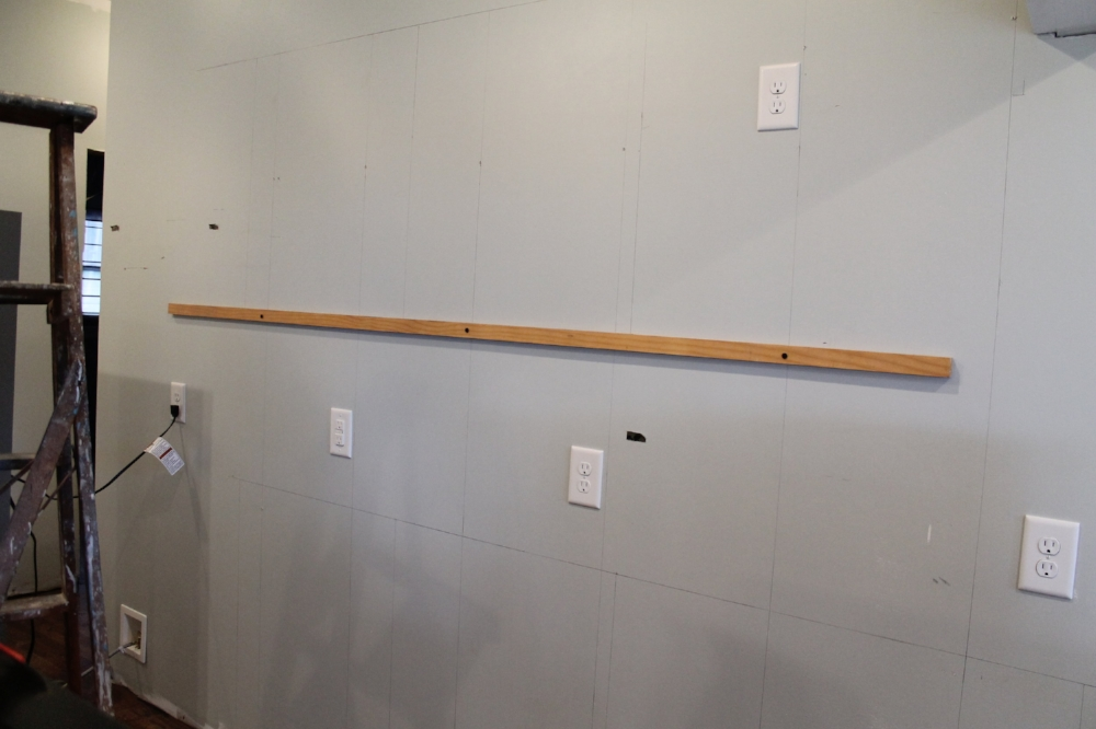 How to Install Kitchen Cabinets - Draw cabinet layout on wall | Elizabeth Burns Design