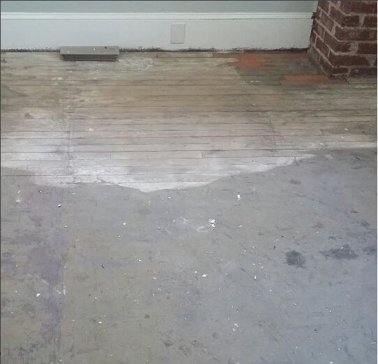 Refinishing Pine Floors - Before