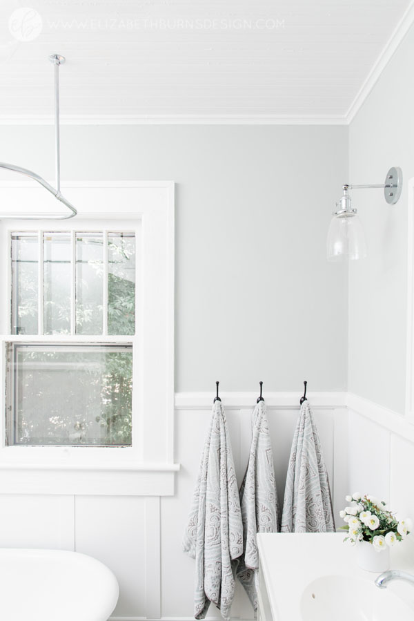 House Flipping Before and Afters - Budget Bathroom Renovation, White Gray and Blue Bath - Sherwin Williams Silver Strand (5).jpg