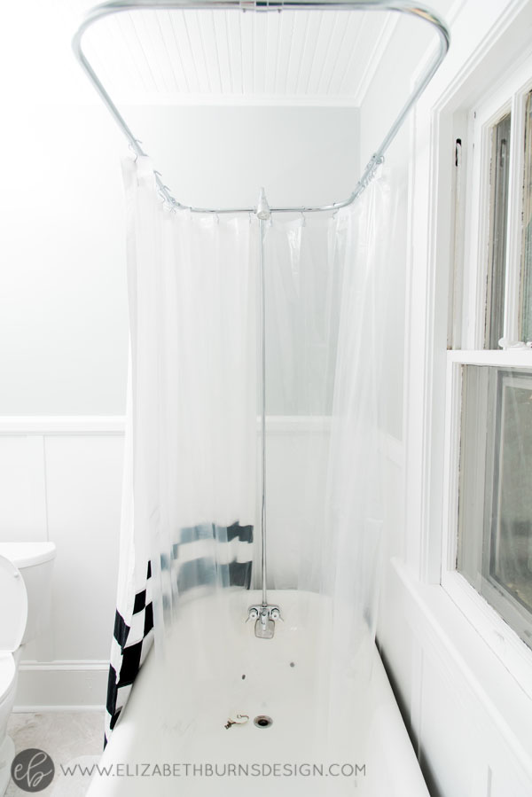 House Flipping Before and Afters - Budget Bathroom Renovation, White Gray and Blue Bath - Sherwin Williams Silver Strand (1).jpg
