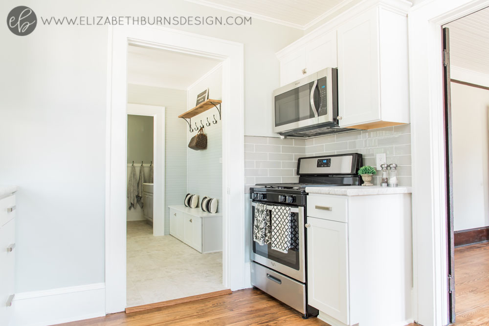 House Flipping Before and Afters - Budget Kitchen Renovation, Cheap Cabinets, Cheap Countertops - Sherwin Williams Silver Strand (5).jpg
