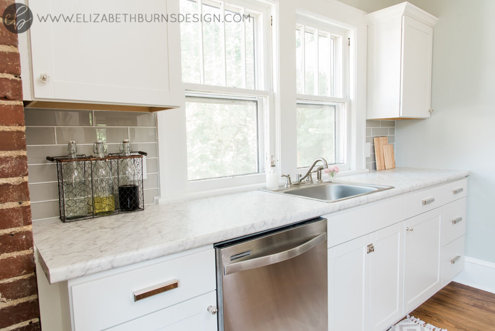 House Flipping Before and Afters - Budget Kitchen Renovation, Cheap Cabinets, Cheap Countertops - Sherwin Williams Silver Strand (7).jpg