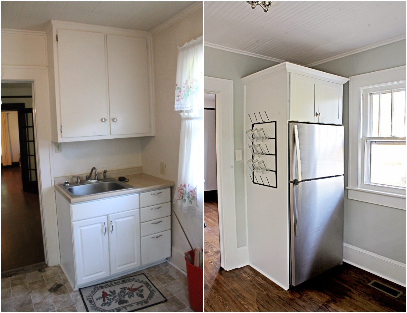 House Flipping Before and Afters - Budget Kitchen Renovation, Cheap Cabinets, Cheap Countertops - Sherwin Williams Silver Strand 26