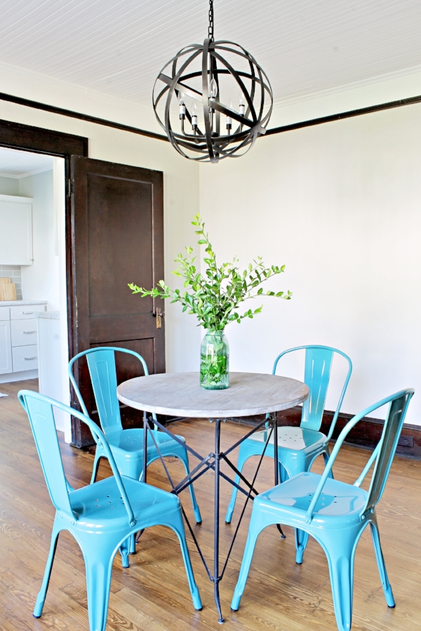 House Flipping Before and Afters - Dining Room Budget Renovation Remodel, Wood Trim Paint Colors - Sherwin Williams Repose Gray 14