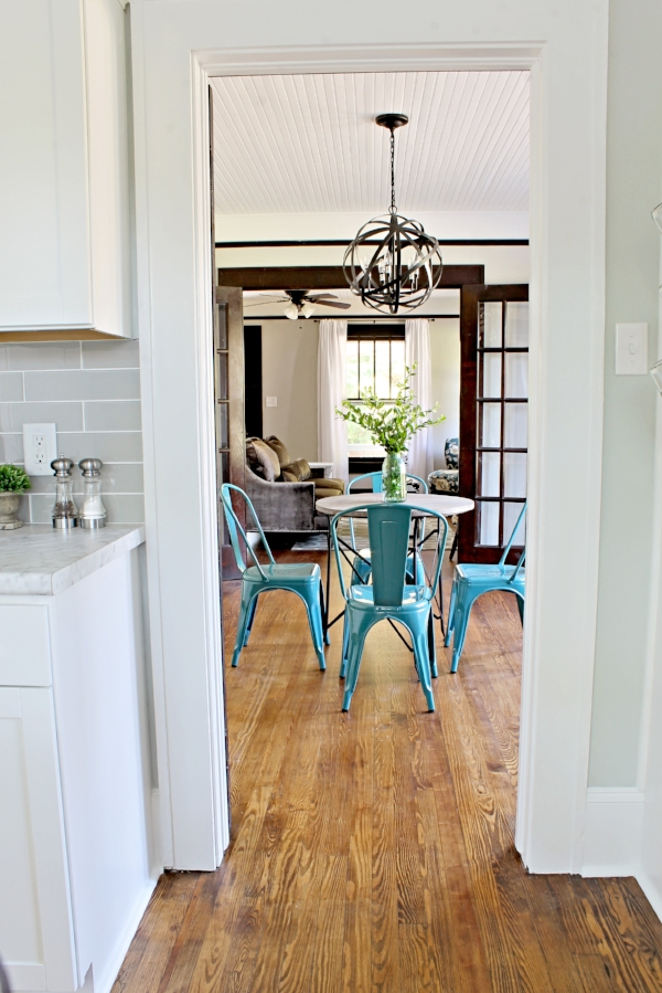 House Flipping Before and Afters - Dining Room Budget Renovation Remodel, Wood Trim Paint Colors - Sherwin Williams Repose Gray 20