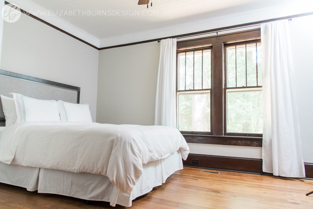 House Flipping Before and Afters - Bedroom Staging Ideas, Wood Trim Paint Colors - Sherwin Williams Repose Gray (2).jpg